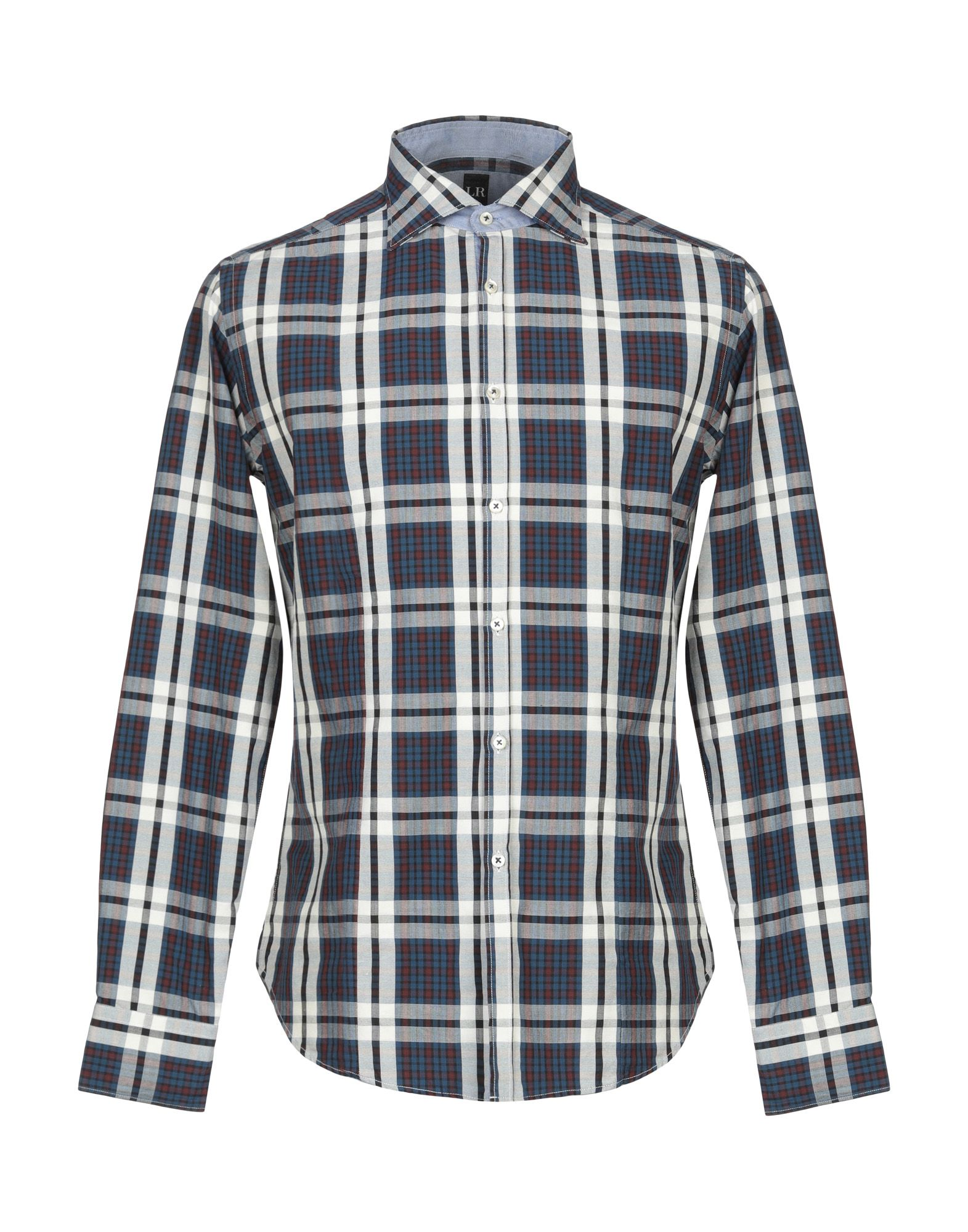 《送料無料》LR LIBERTY ROSE メンズ シャツ ダークブルー 39 コットン 100%
