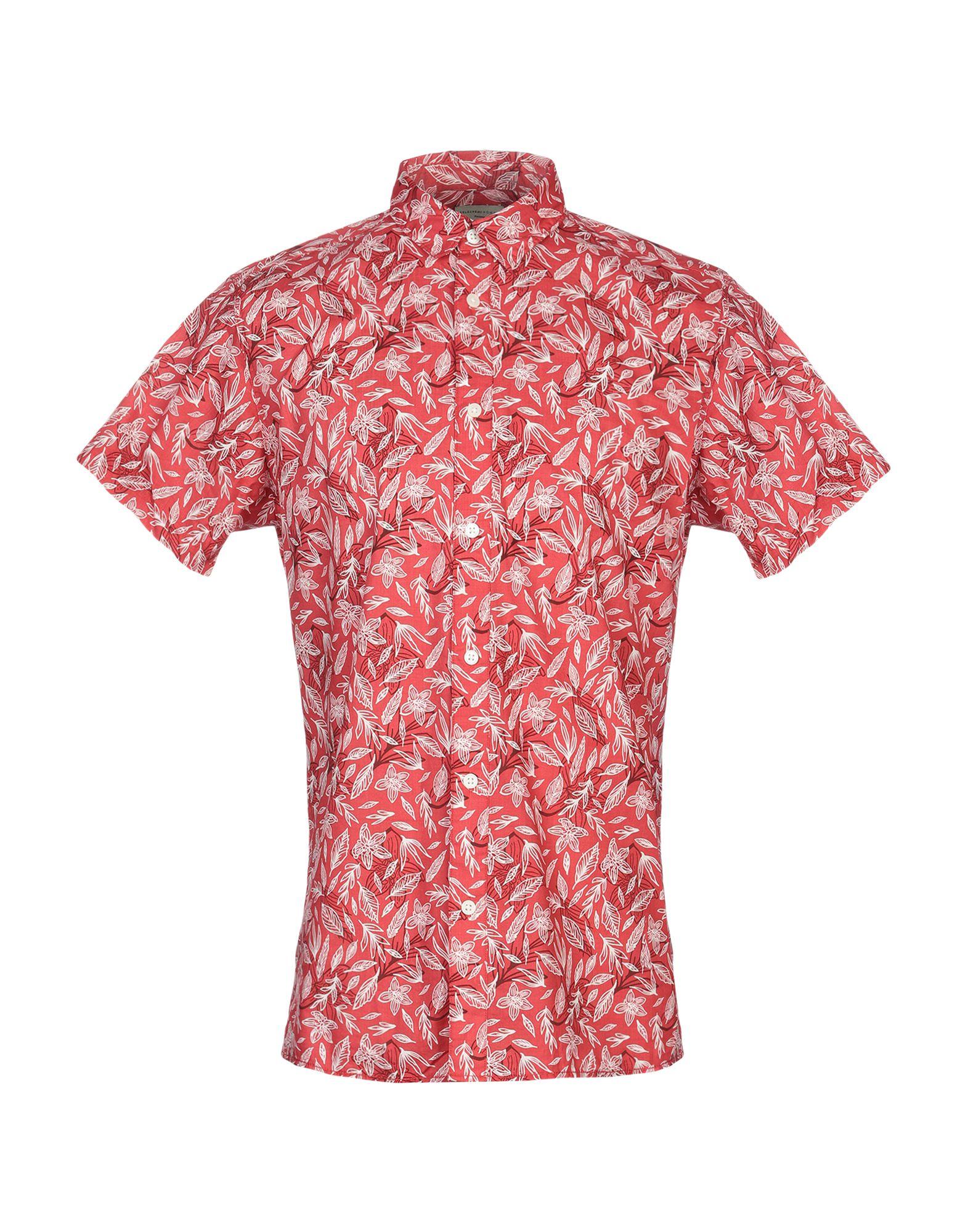 《送料無料》SELECTED HOMME メンズ シャツ レッド S コットン 100%