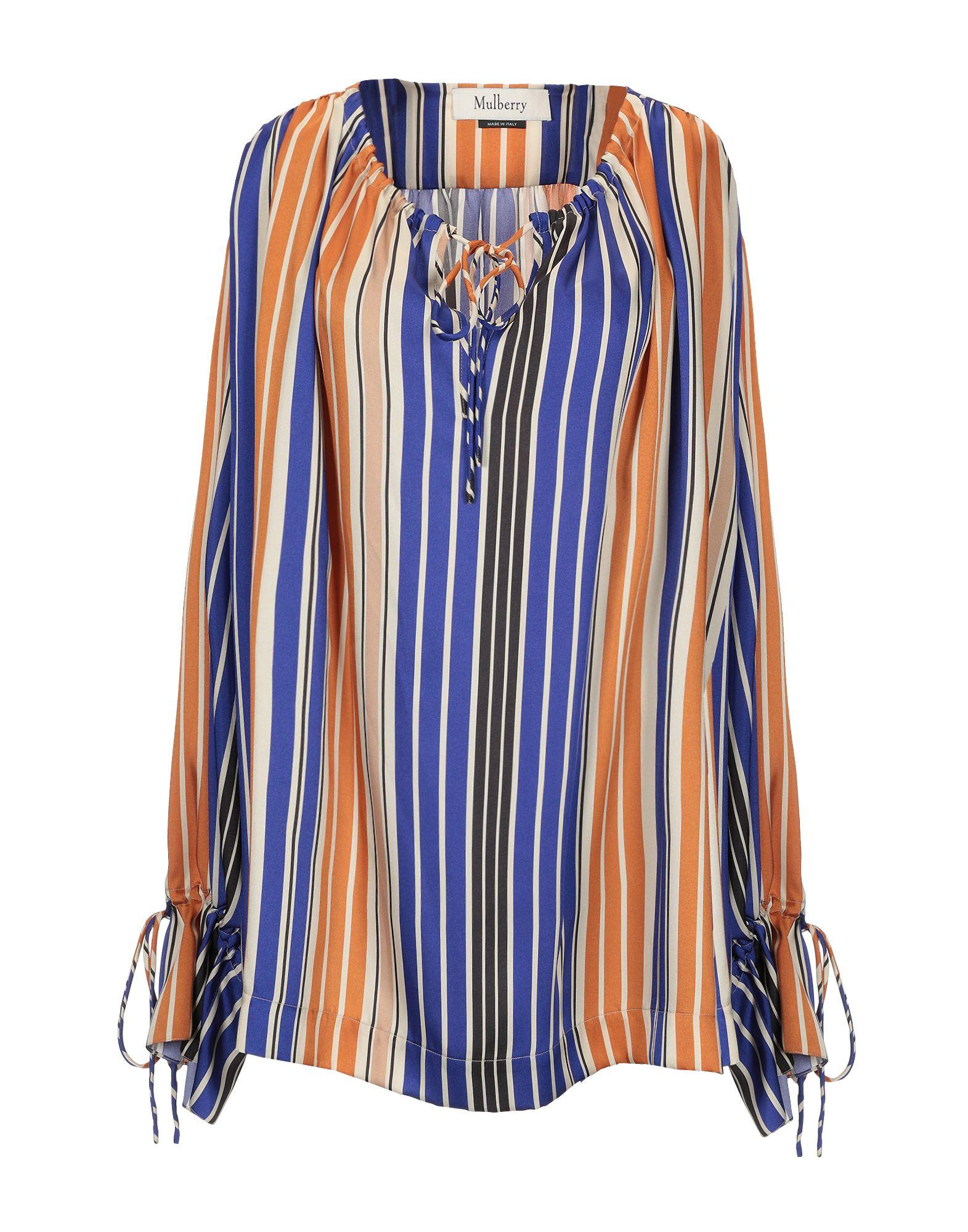 MULBERRY Блузка mulberry silk stripe tiny plaid tie