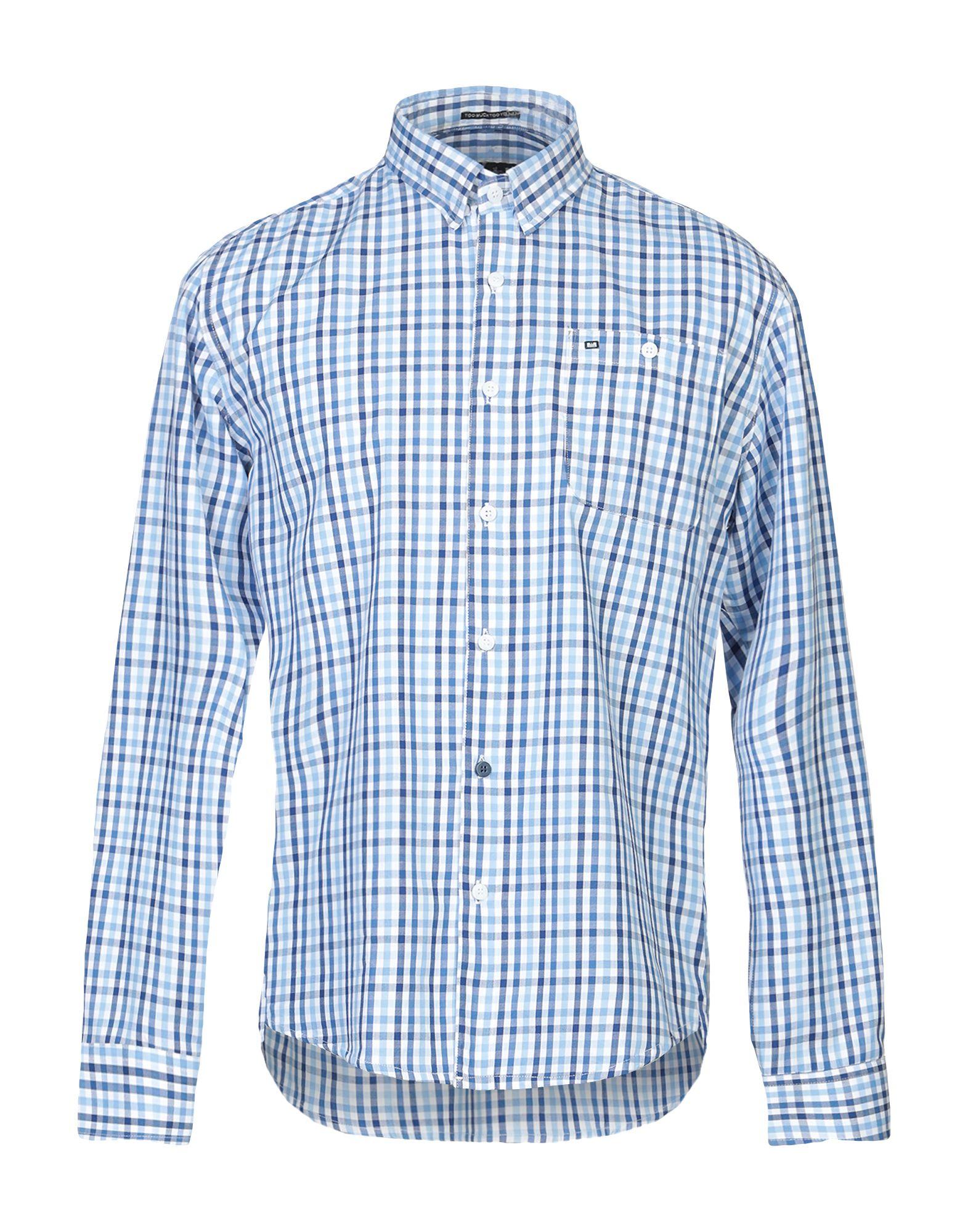 《送料無料》WEEKEND OFFENDER メンズ シャツ ブルー XS コットン 100%