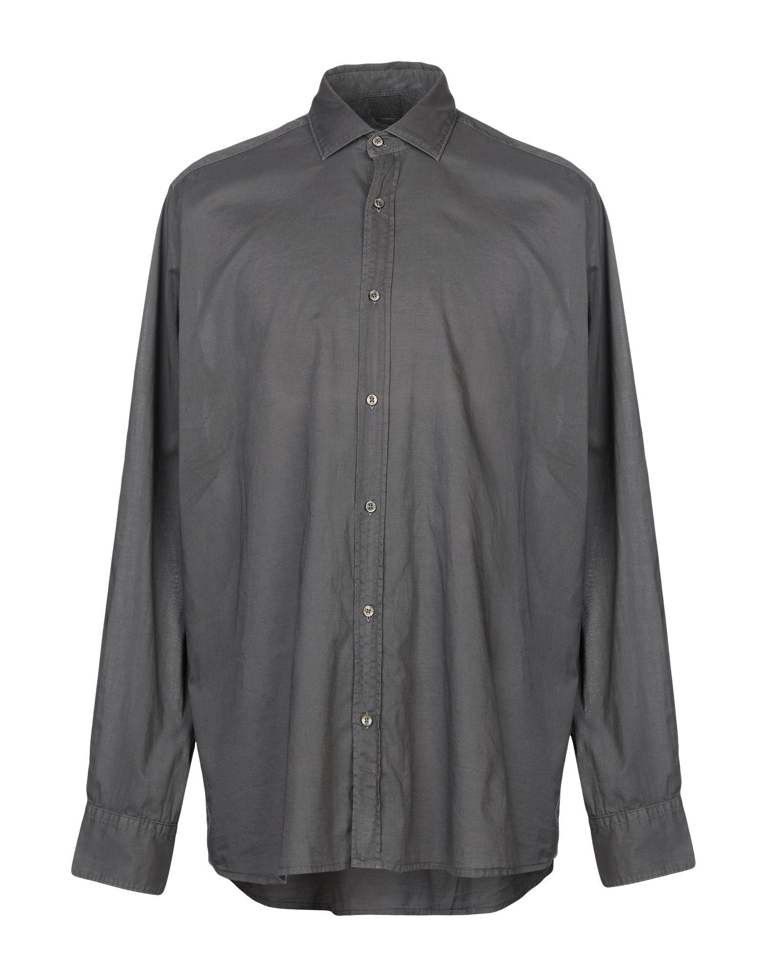 《送料無料》R3D W D メンズ シャツ スチールグレー XXL コットン 100%