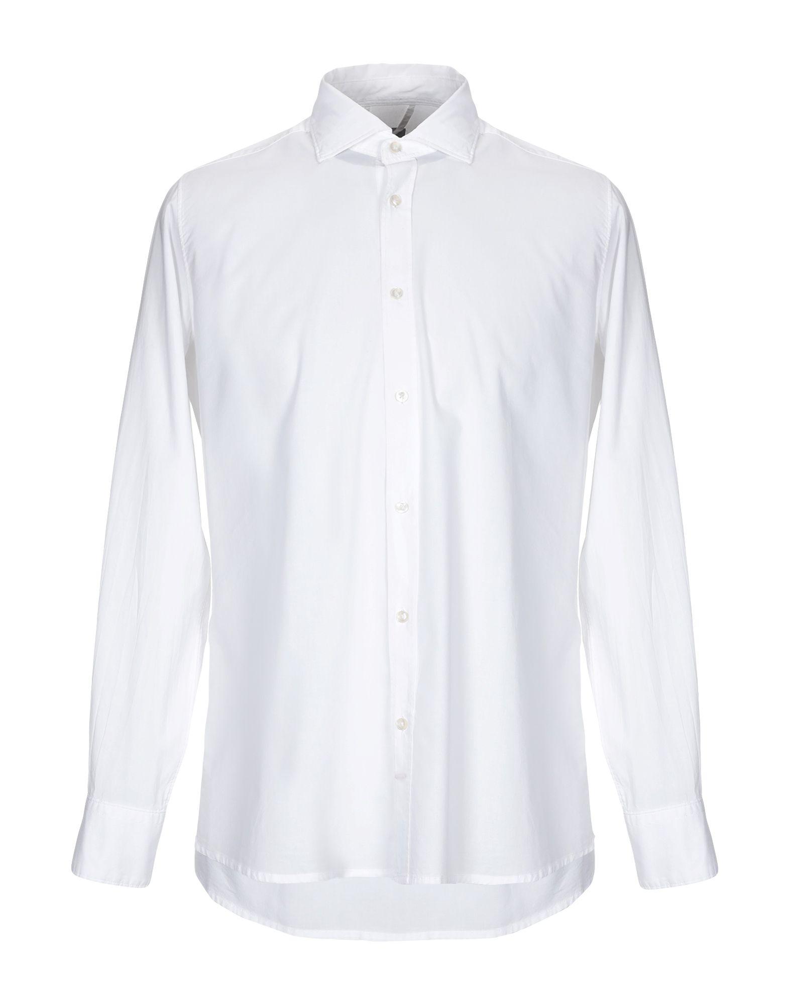 《送料無料》R3D W D メンズ シャツ ホワイト M コットン 100%