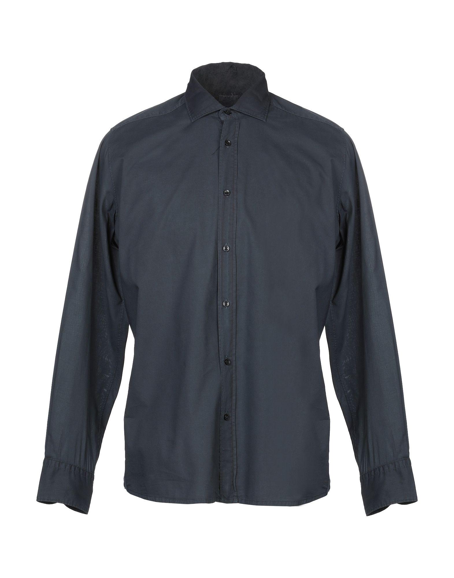 《送料無料》R3D W D メンズ シャツ ダークブルー M コットン 100%