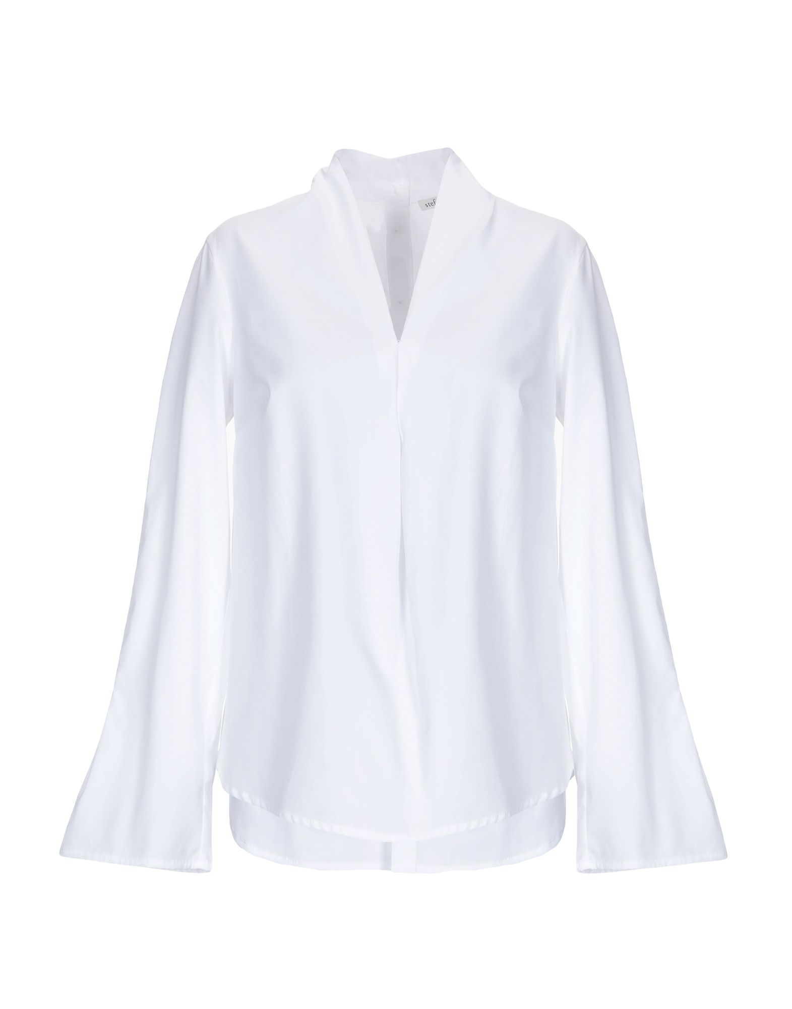 《送料無料》STEFANO MORTARI レディース シャツ ホワイト 42 コットン 100%