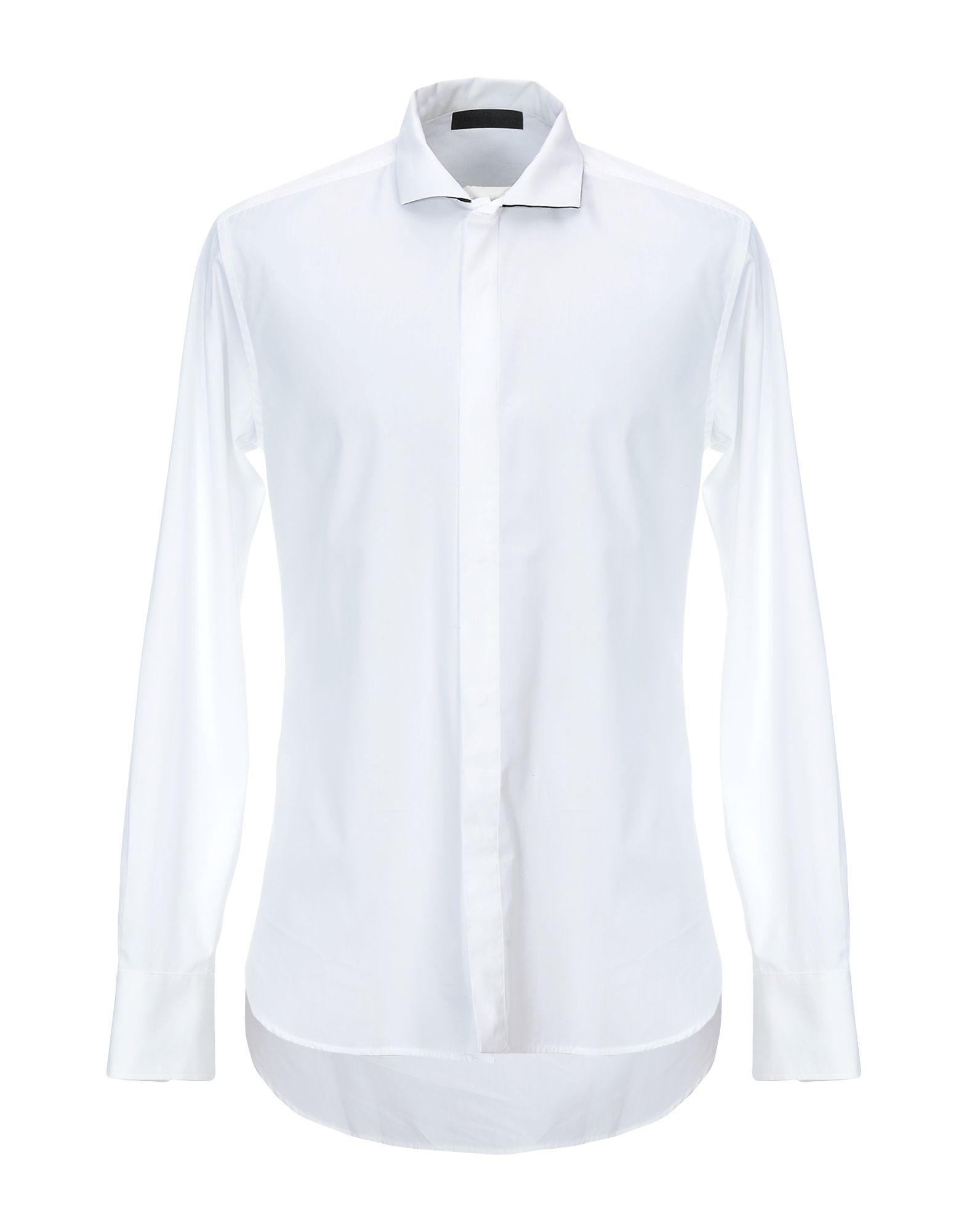 《セール開催中》KARL LAGERFELD メンズ シャツ ホワイト 48 コットン 100%