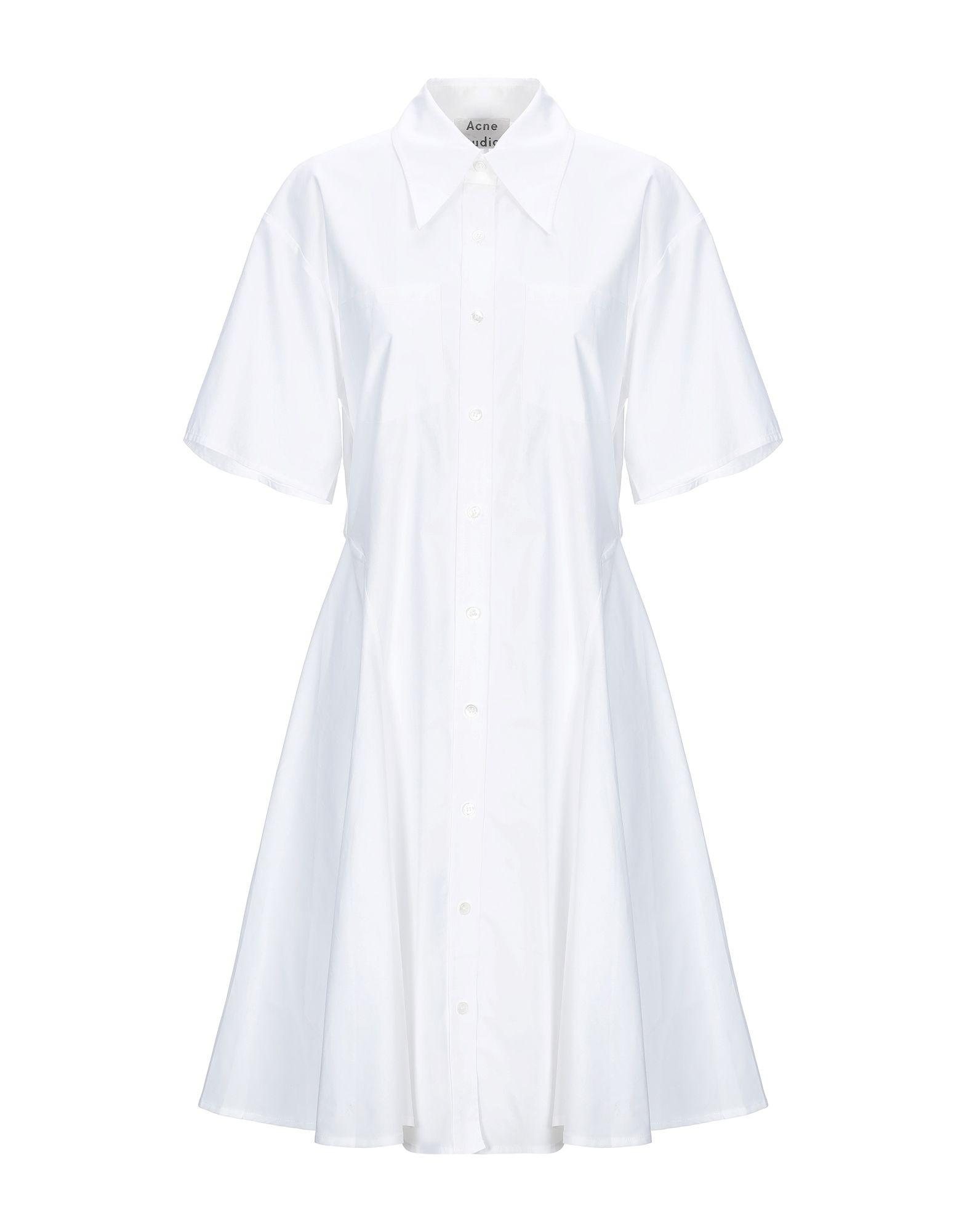 《送料無料》ACNE STUDIOS レディース ミニワンピース&ドレス ホワイト 34 コットン 100%