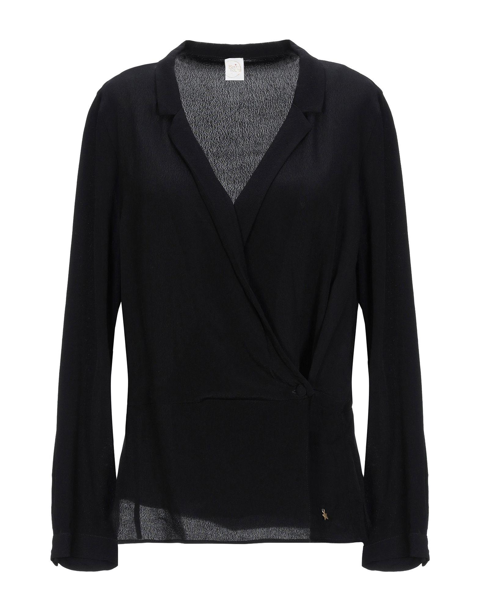 《セール開催中》DES PETITS HAUTS レディース シャツ ブラック 2 レーヨン 100%