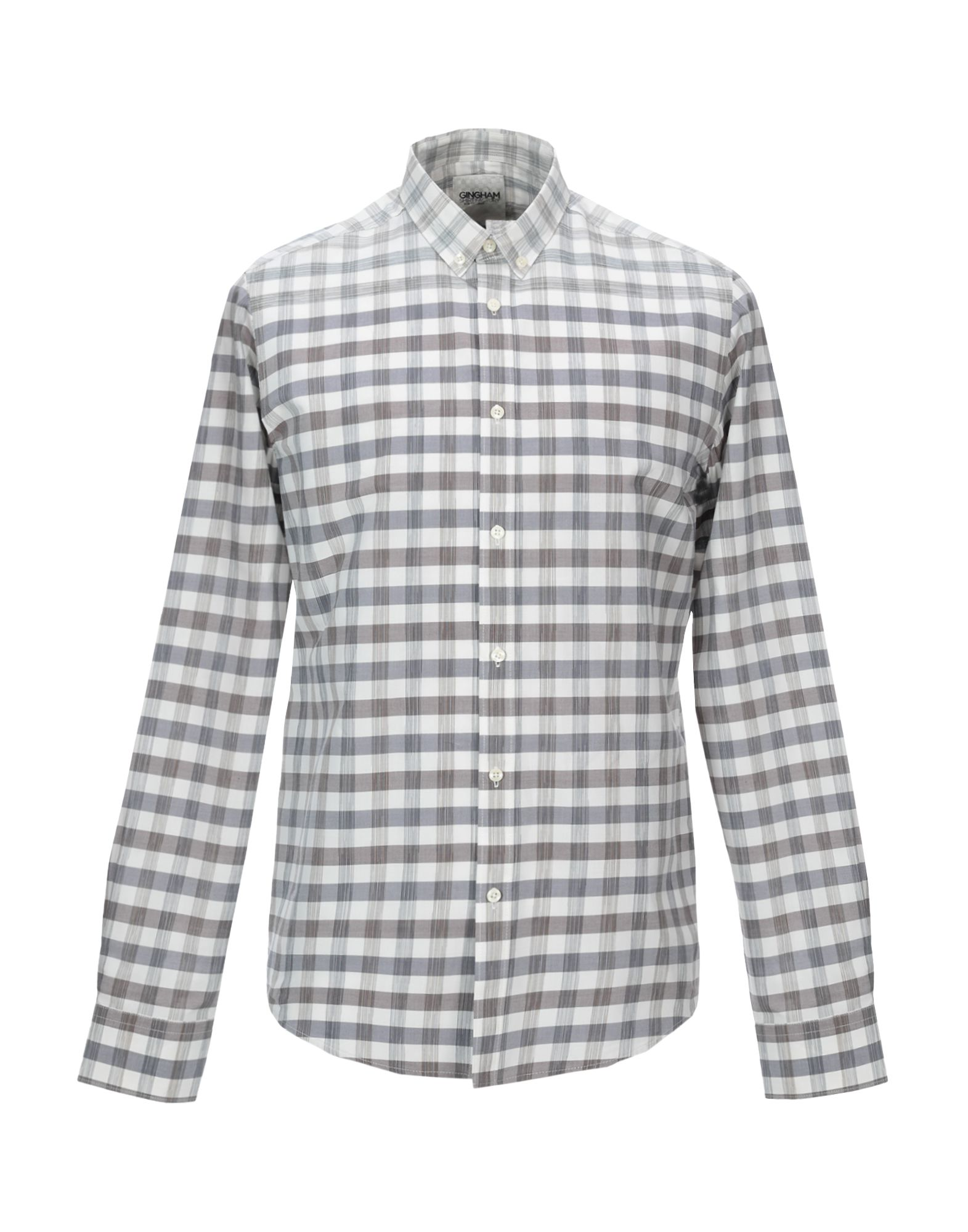GINGHAM SHIRT FACTORY by BEN SHERMAN Pубашка v neckline fluted sleeve gingham top