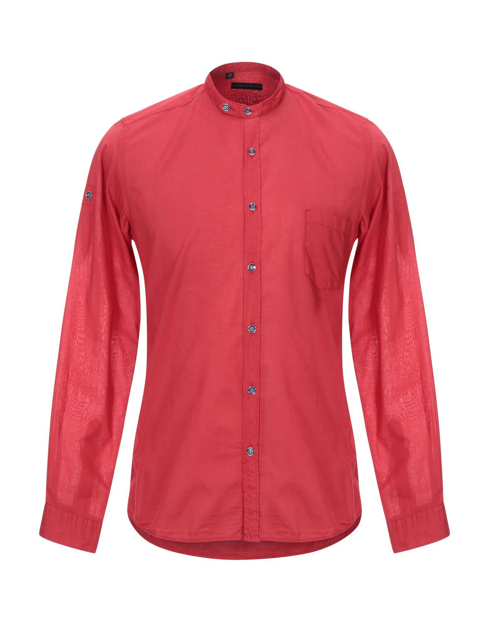 《セール開催中》ALESSANDRO DELL'ACQUA メンズ シャツ レッド 38 コットン 100%