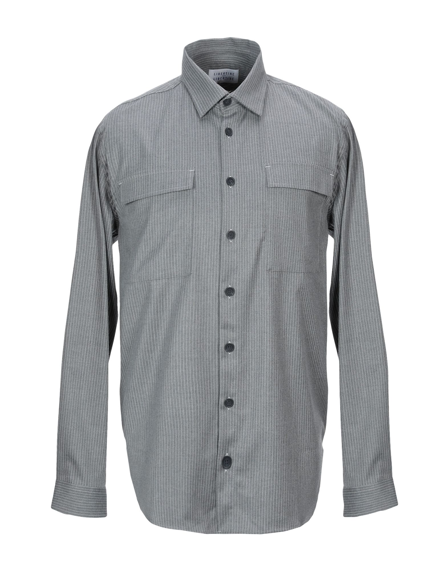 《セール開催中》LIBERTINE-LIBERTINE メンズ シャツ グレー M PES - ポリエーテルサルフォン 64% / レーヨン 35% / ポリウレタン 1%