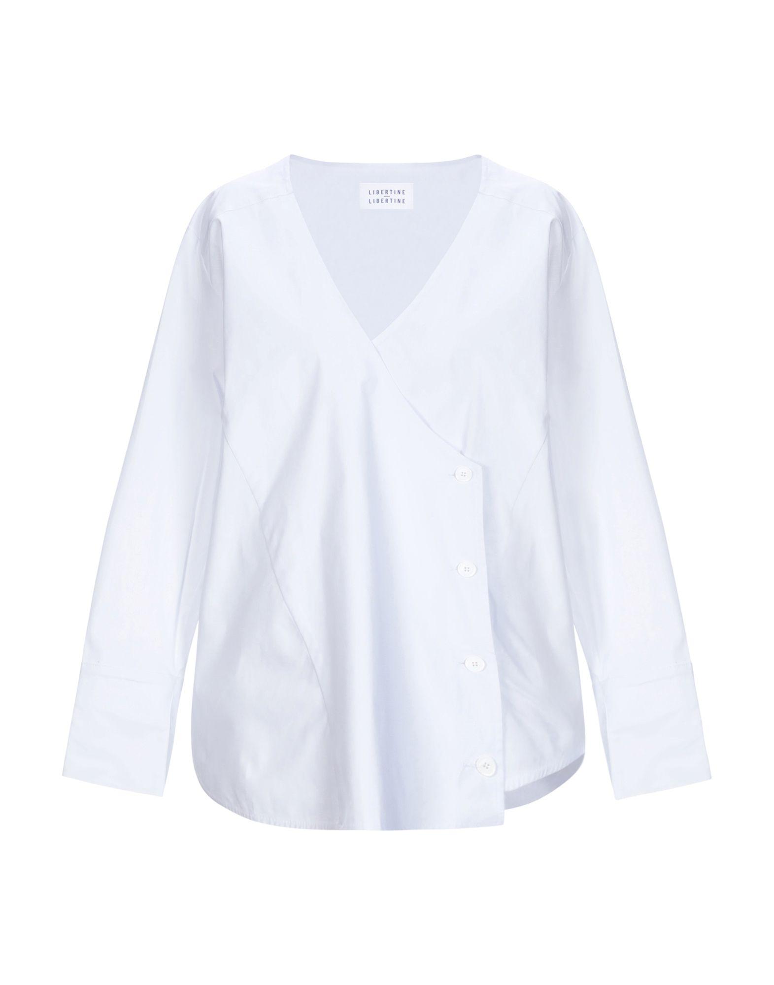 《セール開催中》LIBERTINE-LIBERTINE レディース シャツ ホワイト M コットン 96% / ポリウレタン 4%