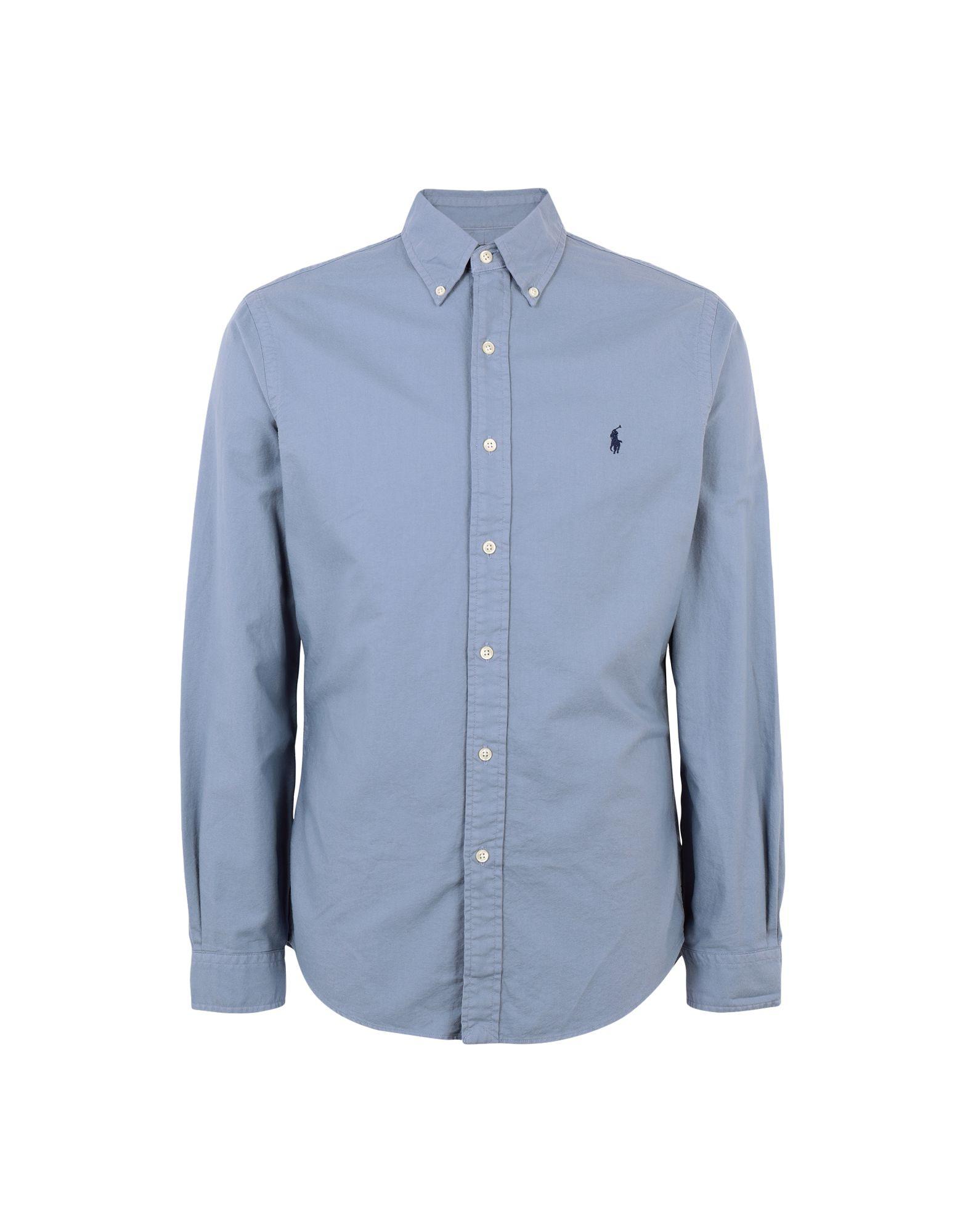 《送料無料》POLO RALPH LAUREN メンズ シャツ パステルブルー XS コットン 100% Slim Fit Oxford Shirt
