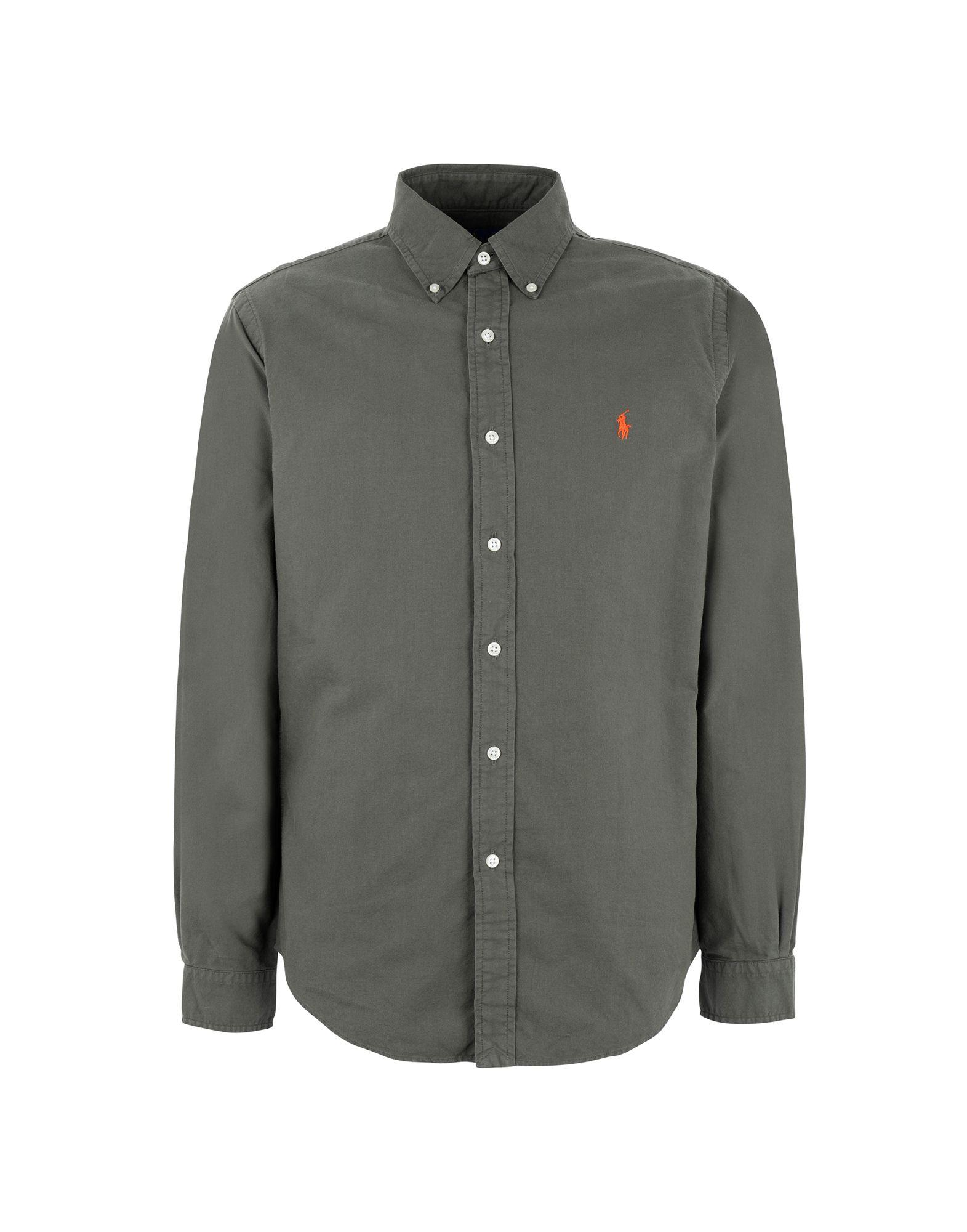 《送料無料》POLO RALPH LAUREN メンズ シャツ ミリタリーグリーン XS コットン 100% Slim Fit Oxford Shirt