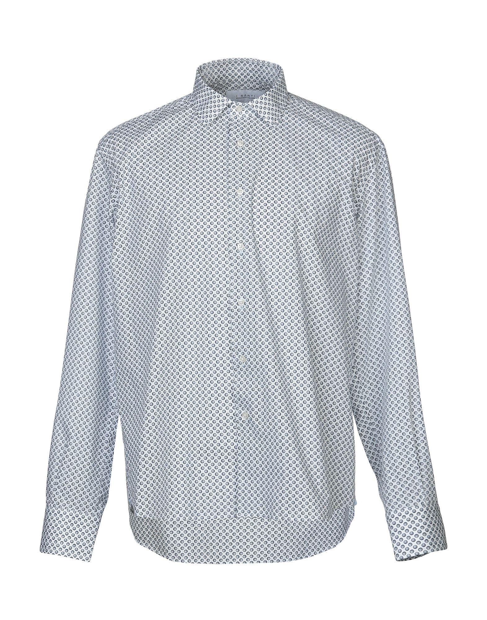 《期間限定セール中》I SARTI メンズ シャツ ホワイト 41 コットン 100%