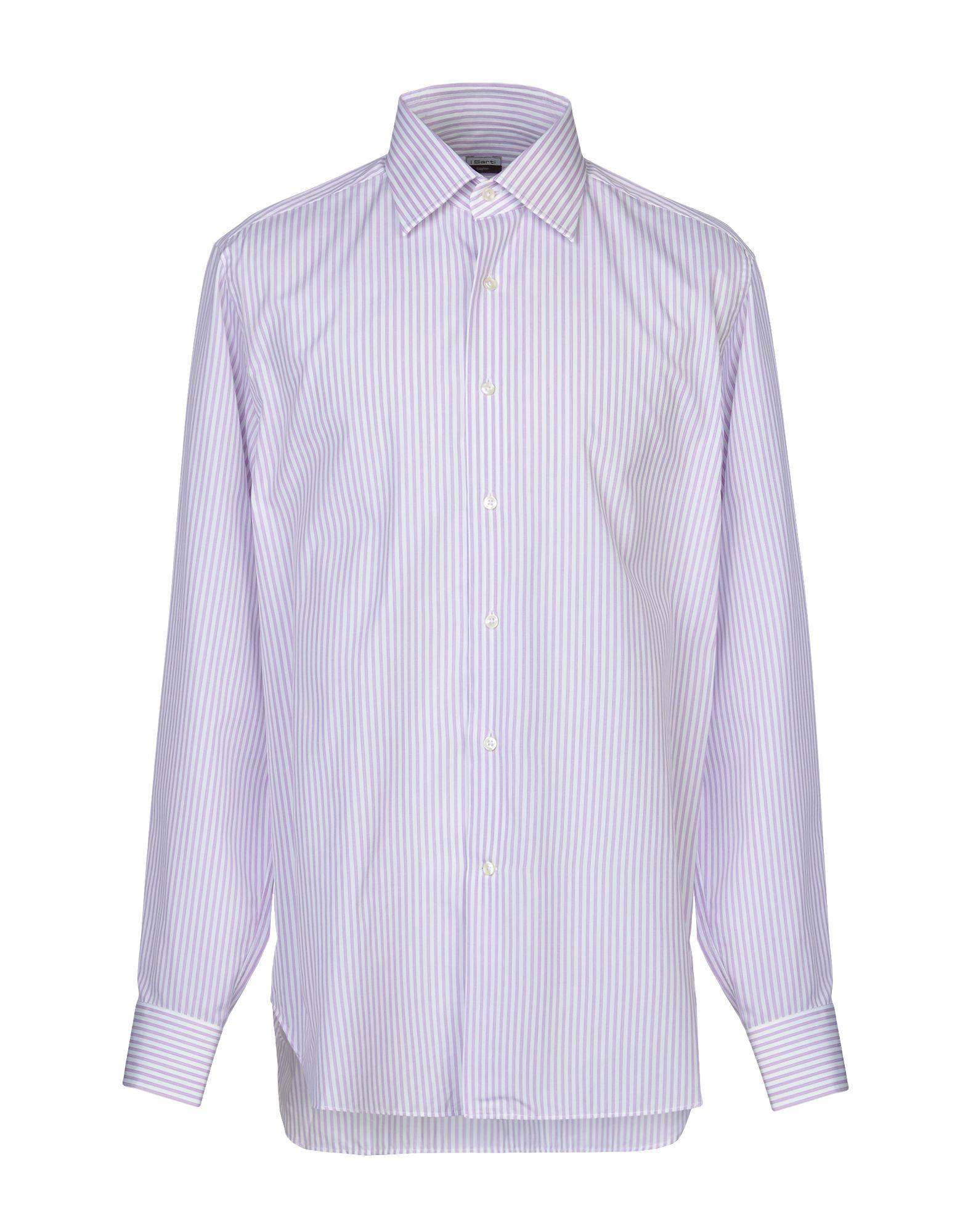 《期間限定セール中》I SARTI メンズ シャツ ライトパープル 41 コットン 100%