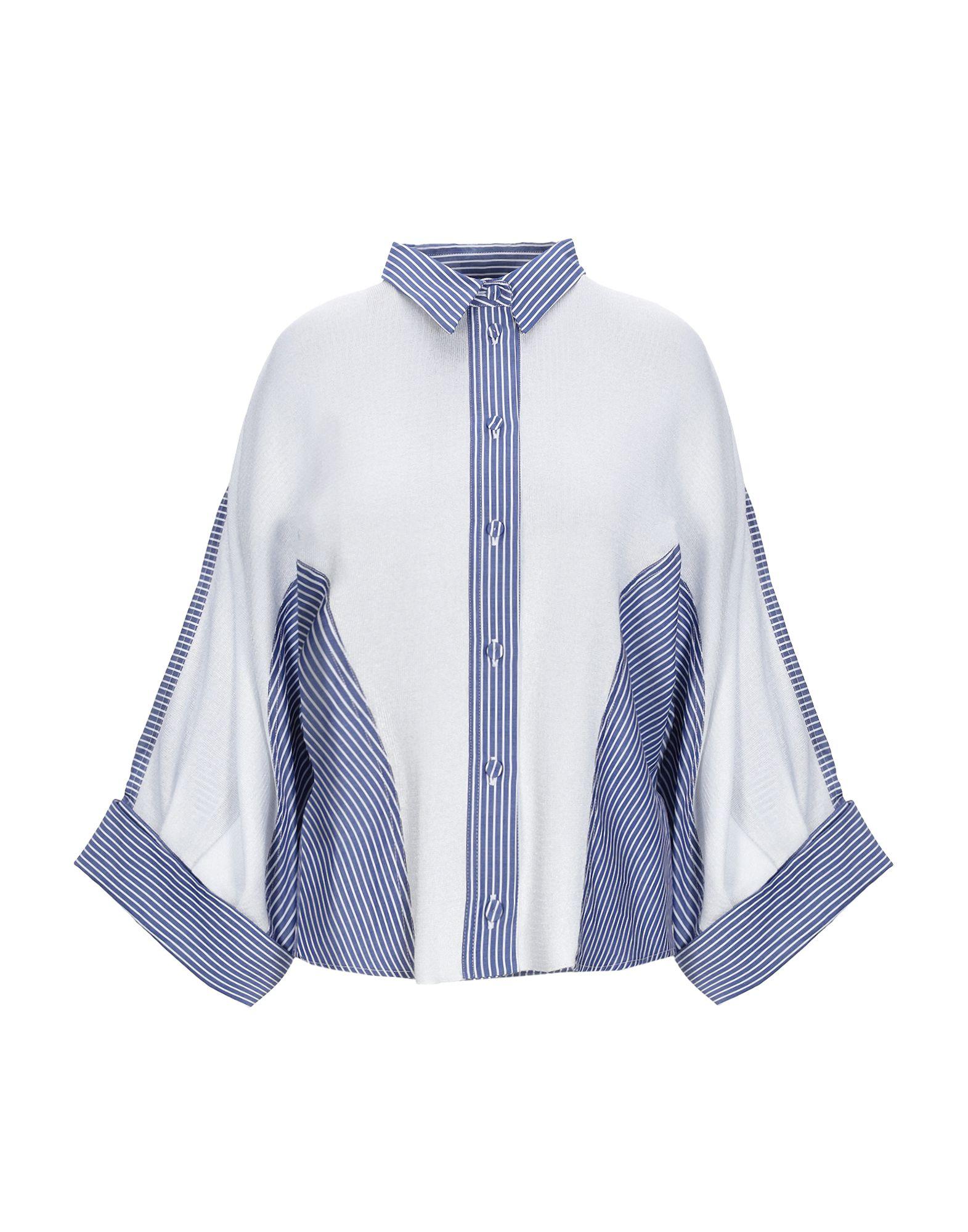《期間限定セール中》FLO' SOPHIE レディース シャツ ブルー 42 コットン 65% / レーヨン 20% / ポリエステル 15%