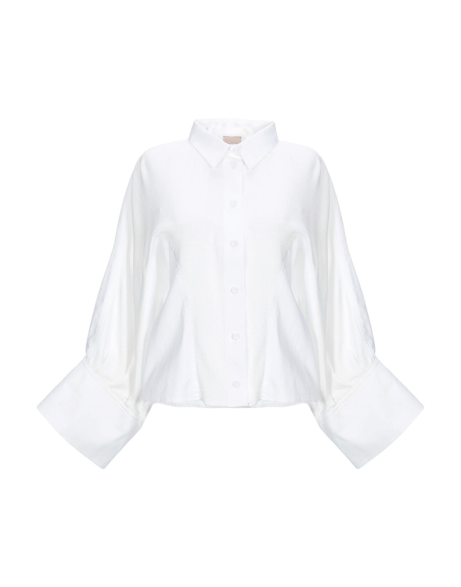 《期間限定セール中》FLO' SOPHIE レディース シャツ ホワイト 40 コットン 65% / レーヨン 20% / ポリエステル 15%