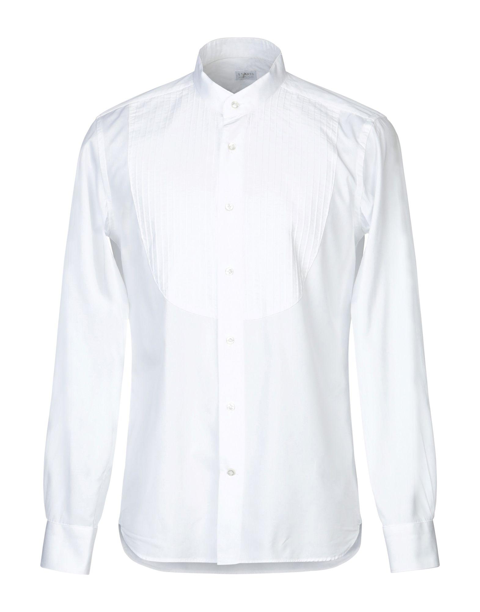 《期間限定セール中》I SARTI メンズ シャツ ホワイト 40 コットン 100%