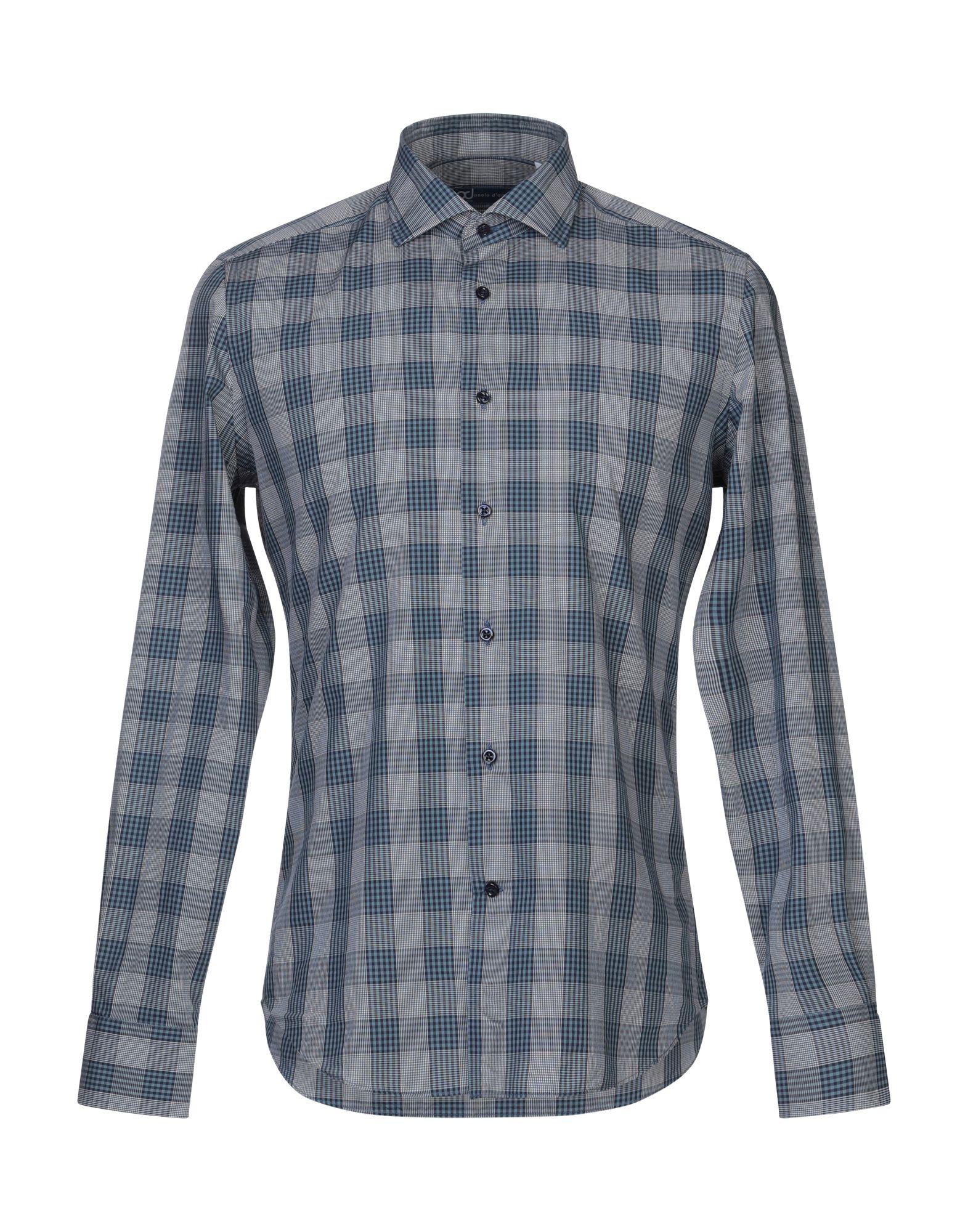 《送料無料》PAOLO D'AMATO メンズ シャツ ブルーグレー 39 コットン 100%