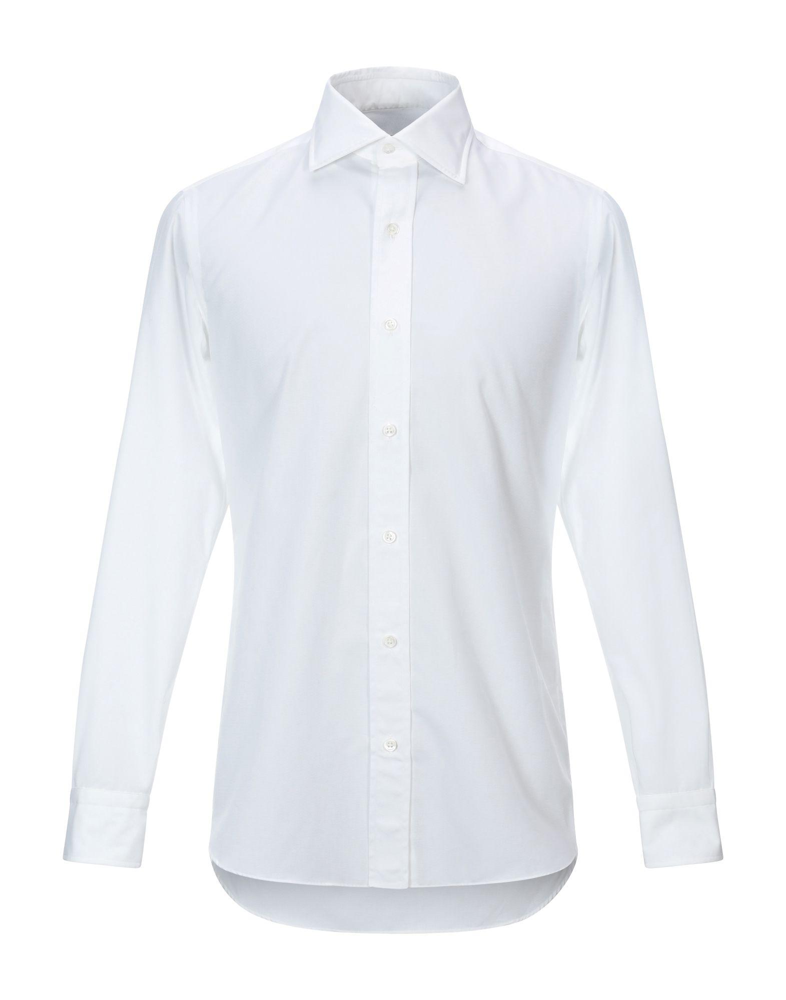 《セール開催中》SALVATORE PICCOLO メンズ シャツ ホワイト 38 コットン 100%