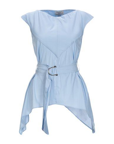 Фото - Женскую блузку GRETHA Milano небесно-голубого цвета