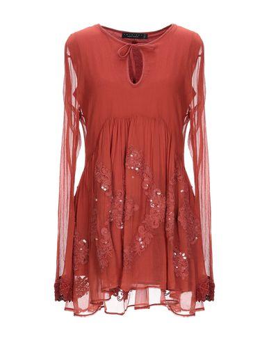 Фото - Женскую блузку TWINSET ржаво-коричневого цвета