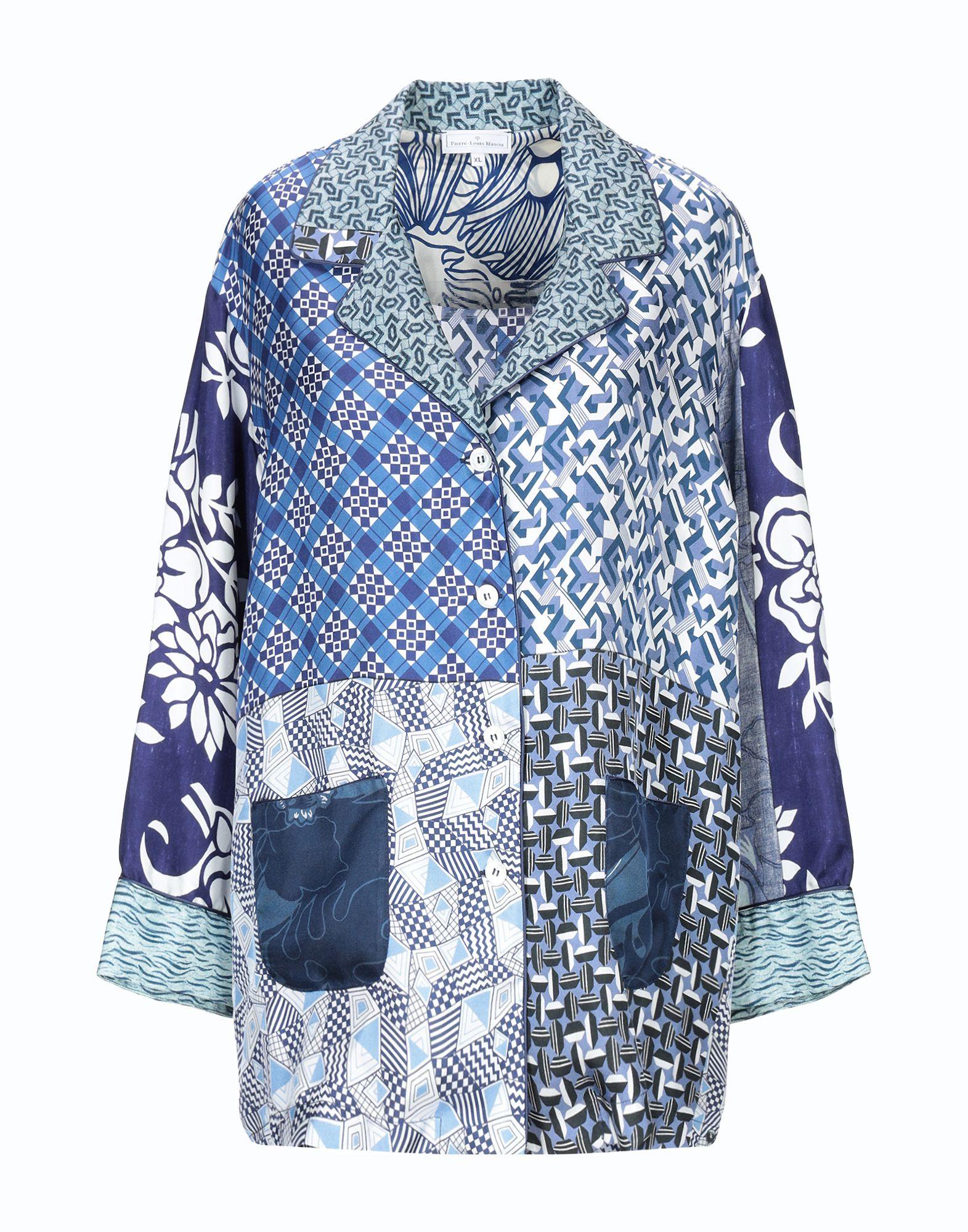 《送料無料》PIERRE-LOUIS MASCIA レディース シャツ ブルー S 紡績繊維