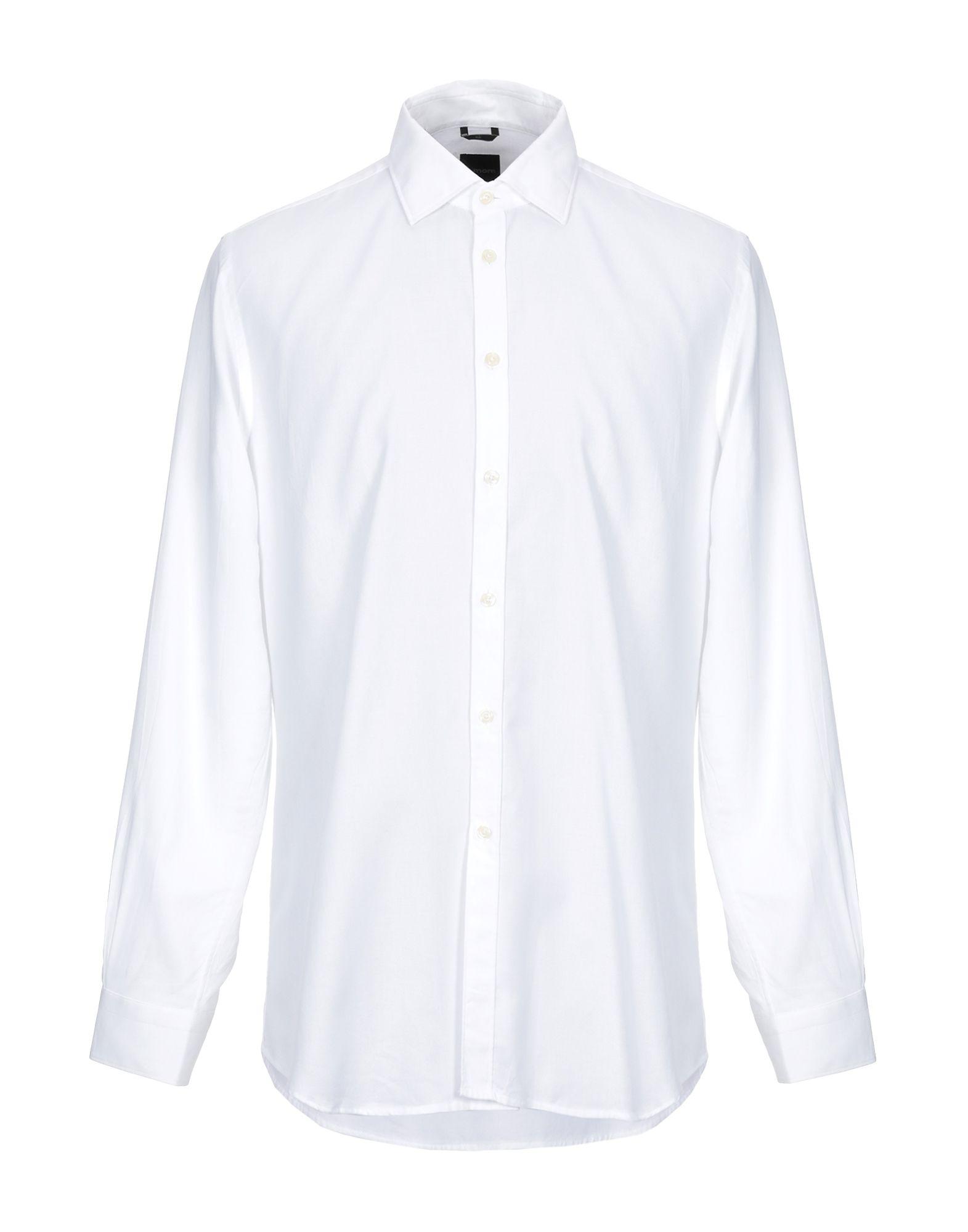 《セール開催中》B>MORE メンズ シャツ ホワイト 44 コットン 100%