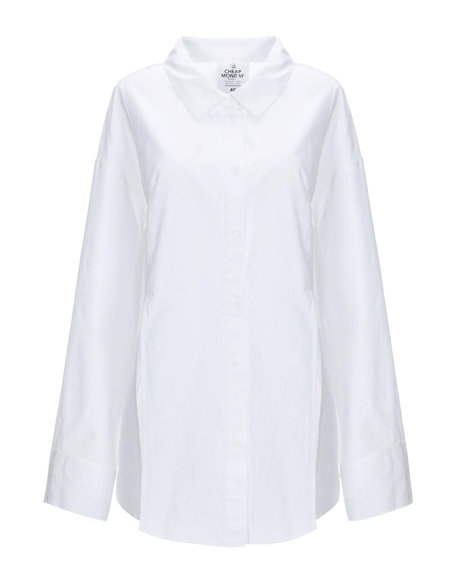 《送料無料》CHEAP MONDAY レディース シャツ ホワイト 36 コットン 100%
