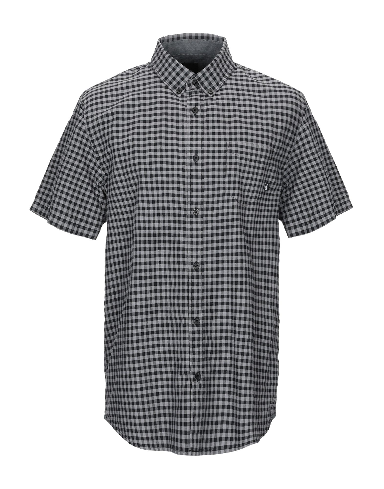《送料無料》VANS メンズ シャツ グレー L コットン 100%