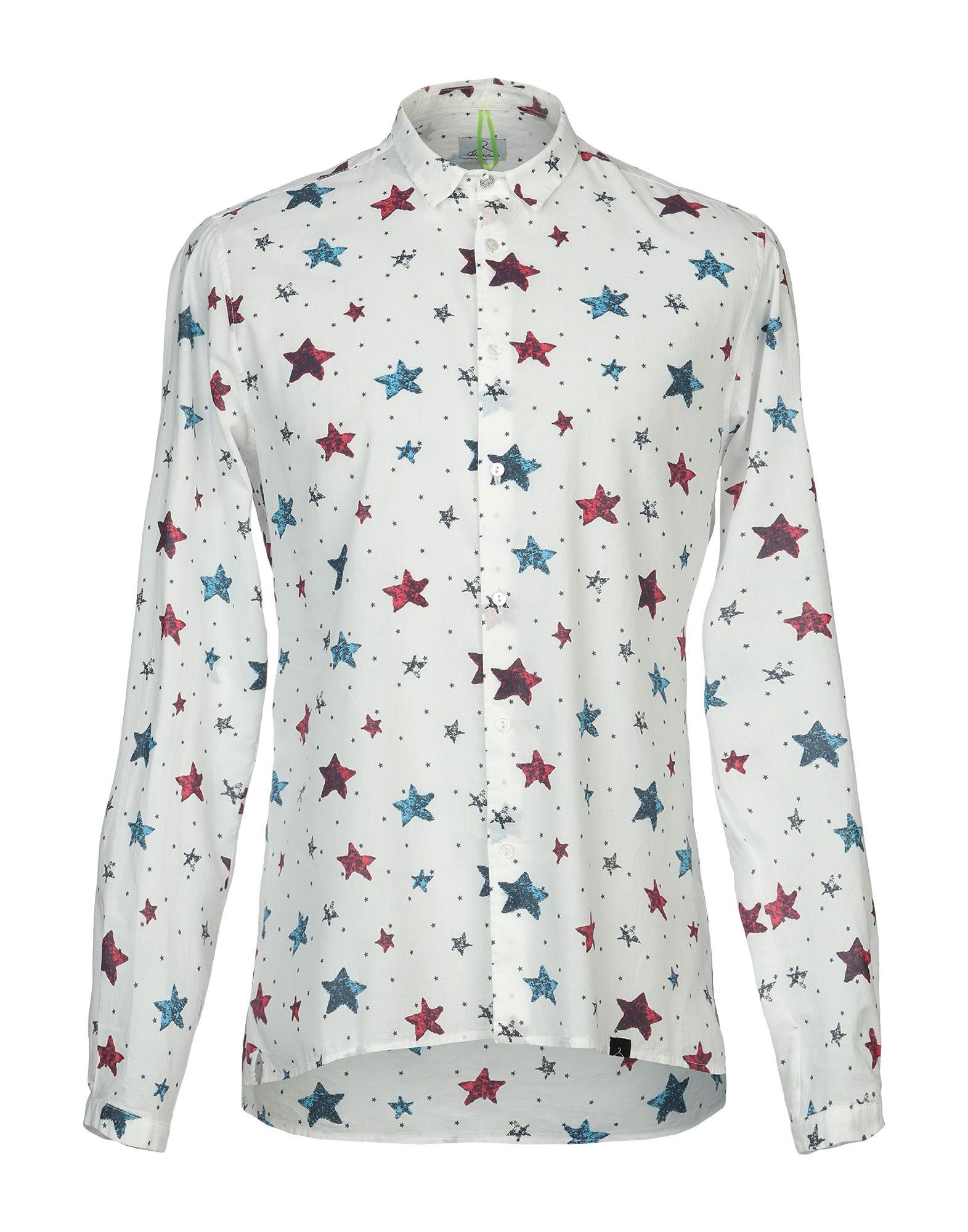 《期間限定セール中》BERNA メンズ シャツ ホワイト L コットン 100%