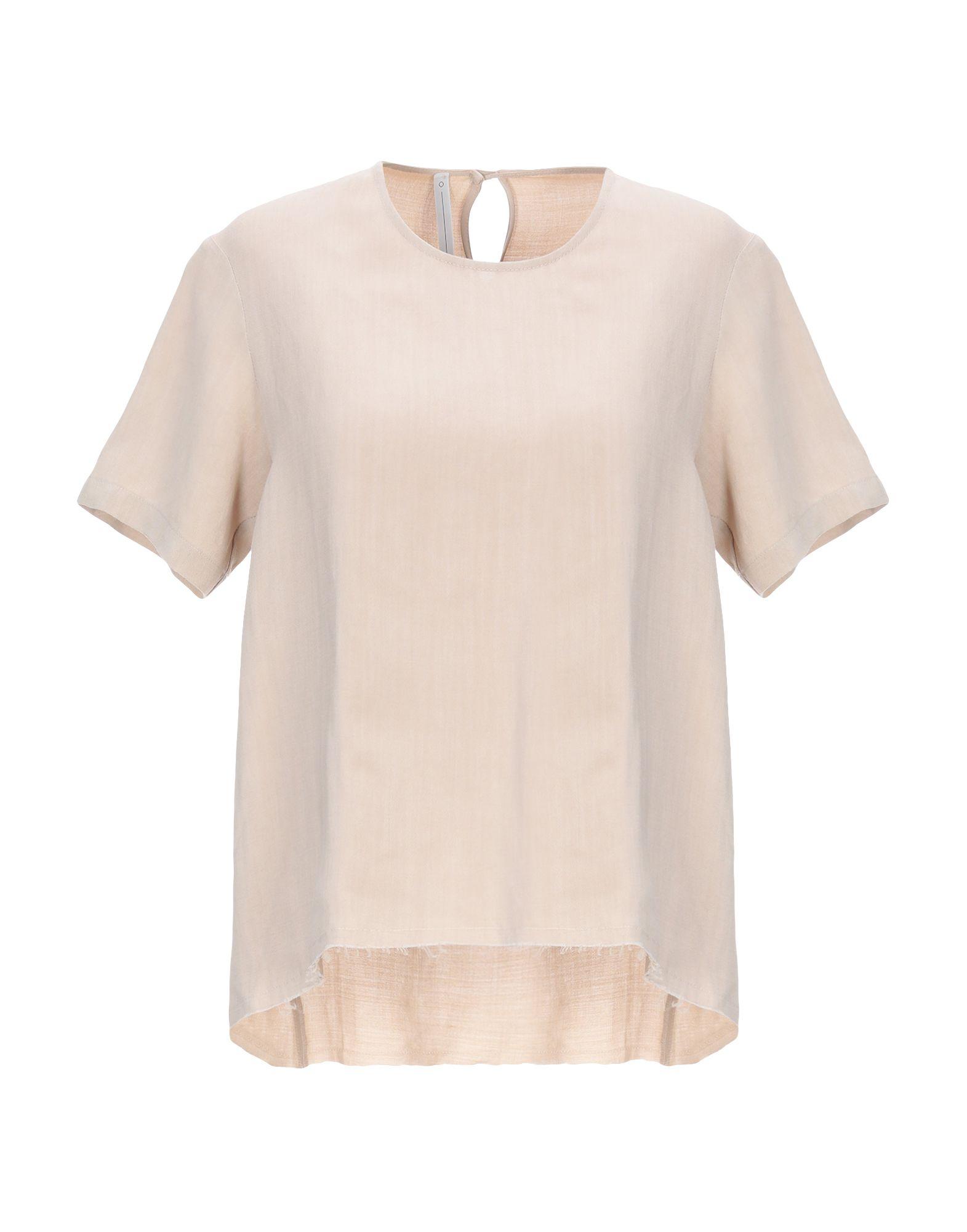 SERIE N°UMERICA Блузка блузка с рисунком короткие рукава вырез сзади