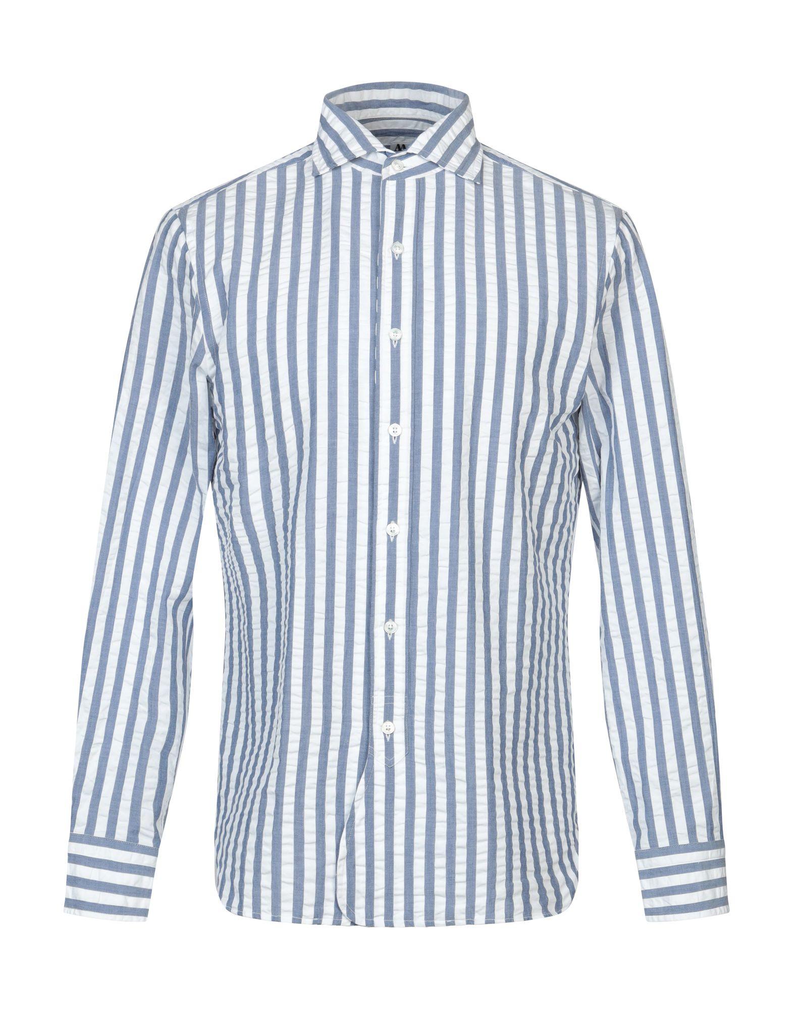 《期間限定セール開催中!》DOPPIAA メンズ シャツ ホワイト 40 コットン 100%