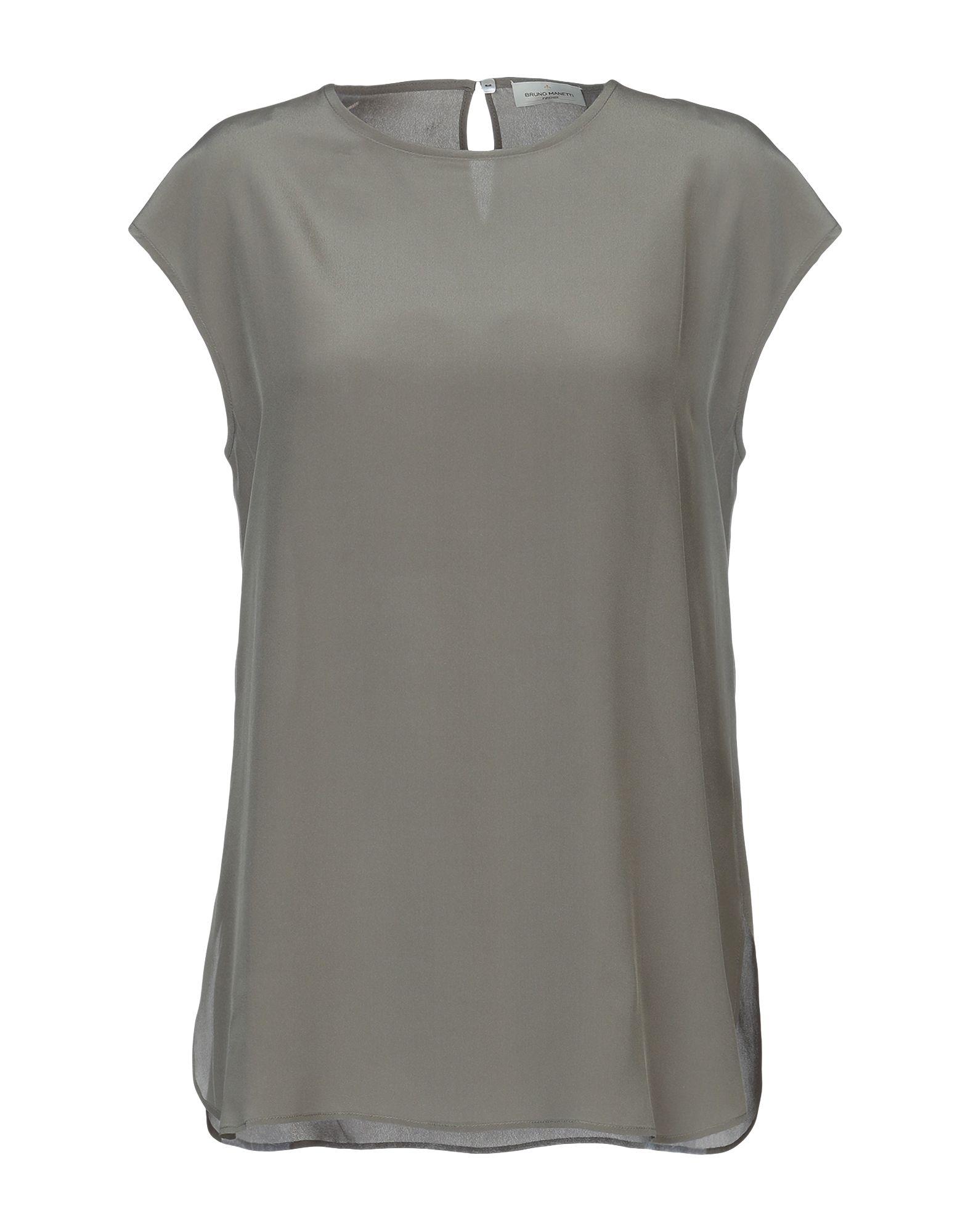 BRUNO MANETTI Блузка блузка с рисунком короткие рукава вырез сзади