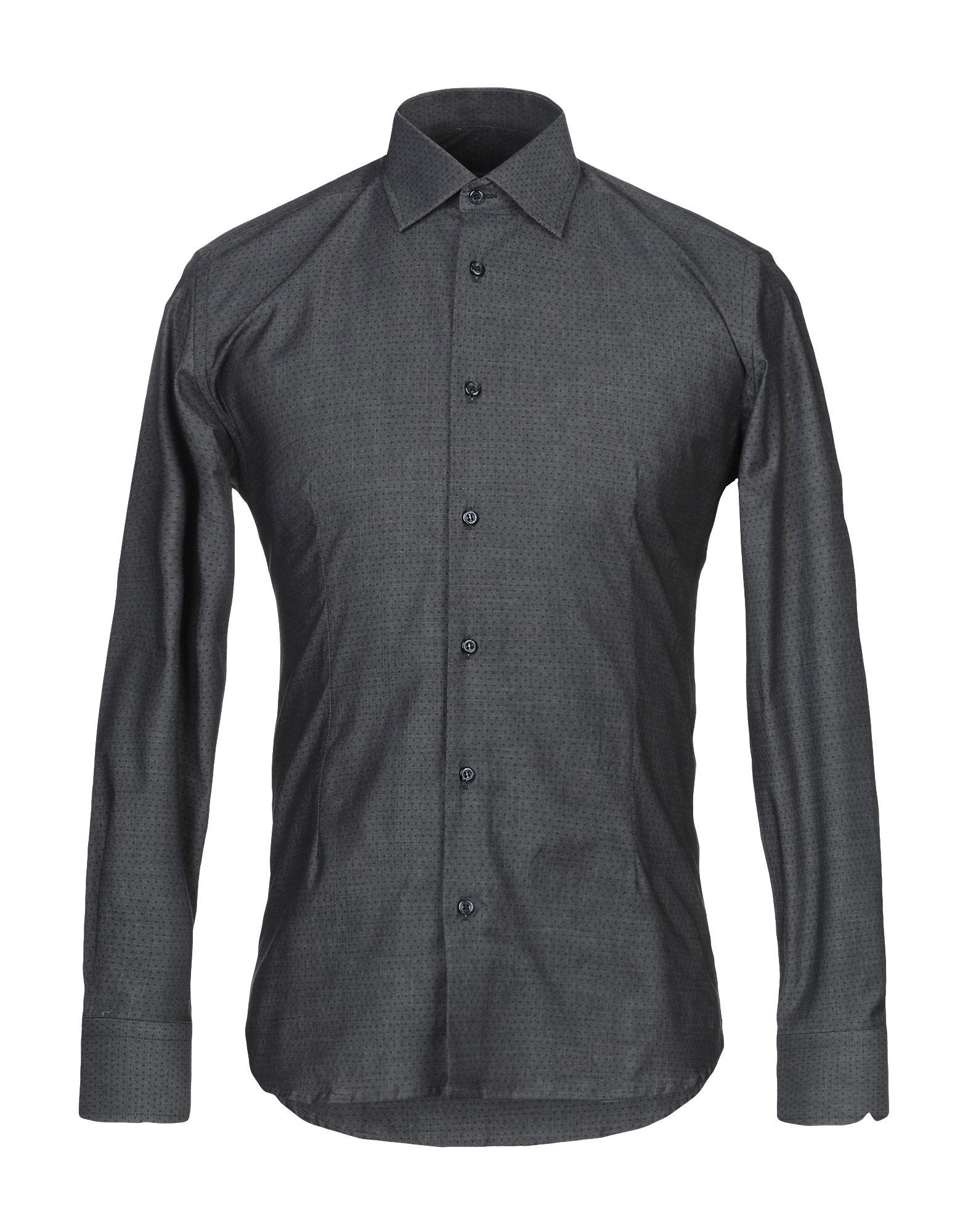 《期間限定セール開催中!》EREDI DEL DUCA メンズ シャツ 鉛色 XL コットン 97% / ポリウレタン 3%