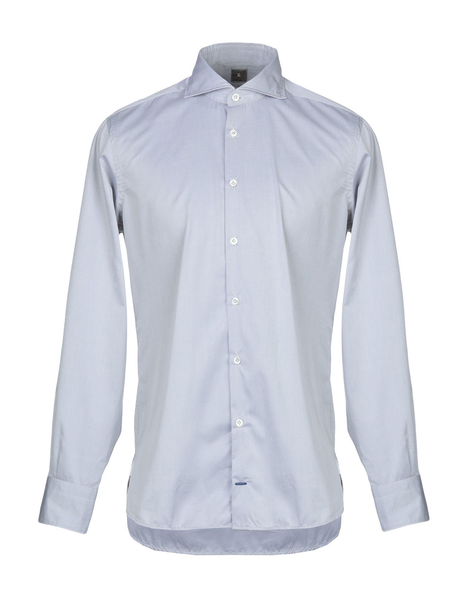 《期間限定 セール開催中》OTTO ASOLE メンズ シャツ グレー 42 コットン 100%