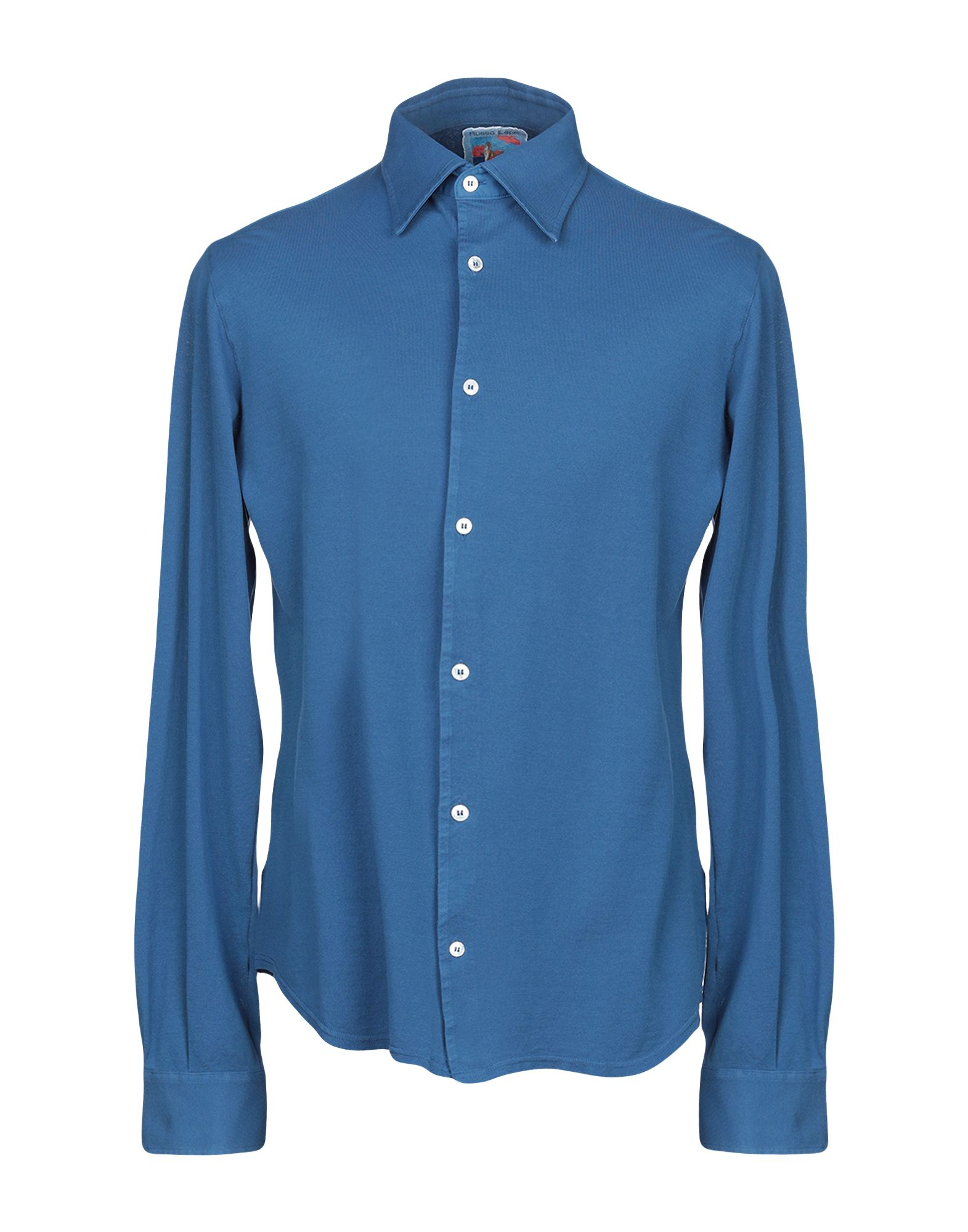 《期間限定セール中》FEDELI メンズ シャツ ダークブルー 52 コットン 100%
