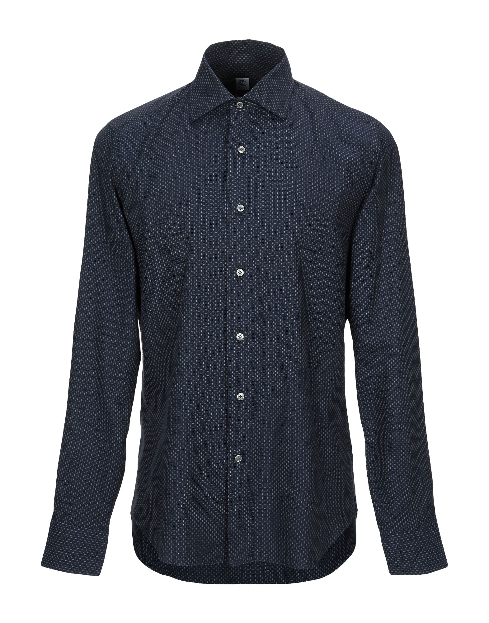 《期間限定セール中》TT CAMICERIA DAL 1938 メンズ シャツ ダークブルー 40 コットン 100%