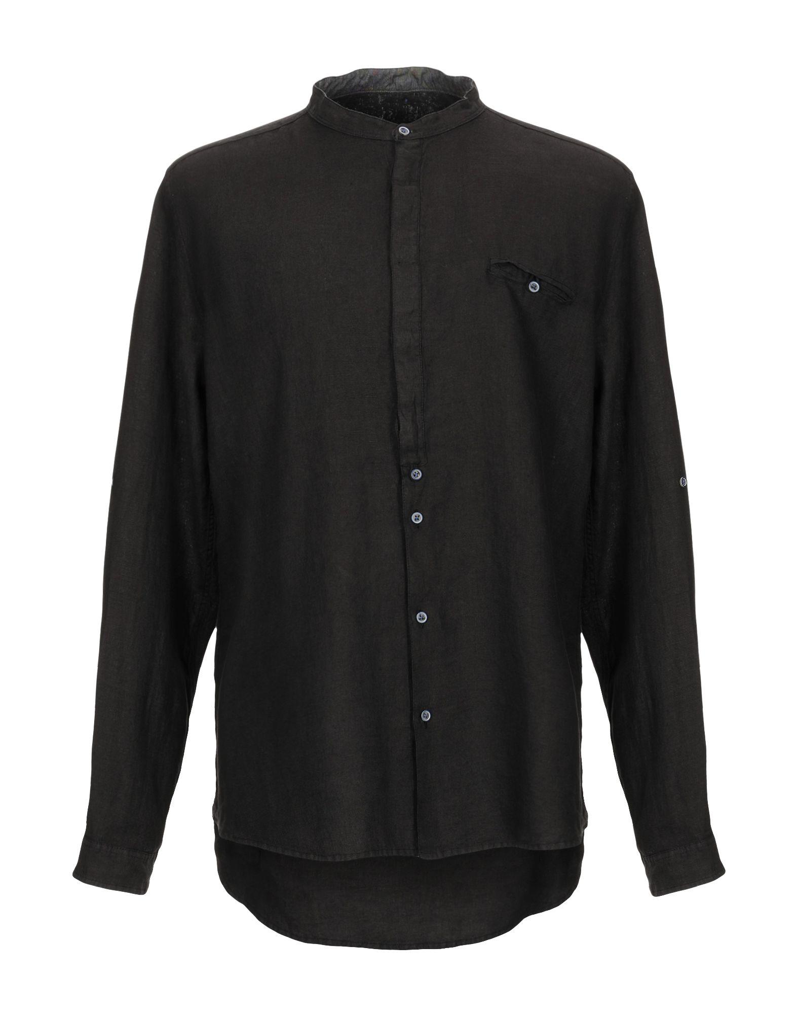 《期間限定セール中》BERNA メンズ シャツ ブラック S 麻 100%