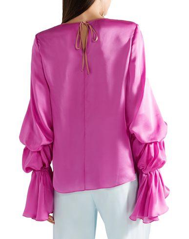 Фото 2 - Женскую блузку ROKSANDA светло-фиолетового цвета