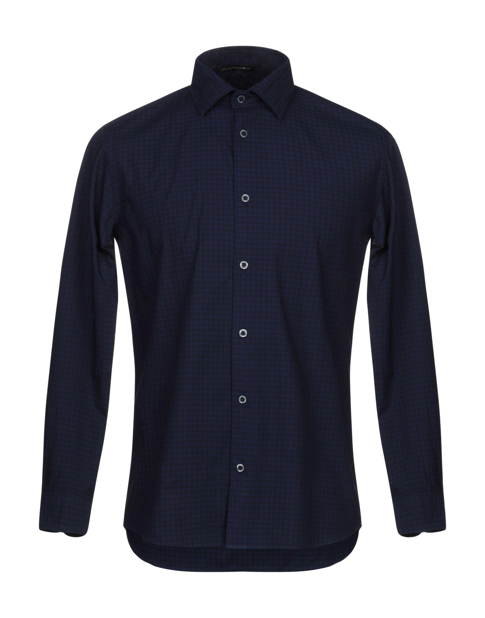 CUTTER & BUCK Shirts. plain weave, no appliqués, checked, front closure, button closing, long sleeves, buttoned cuffs, classic neckline, no pockets. 100% Cotton