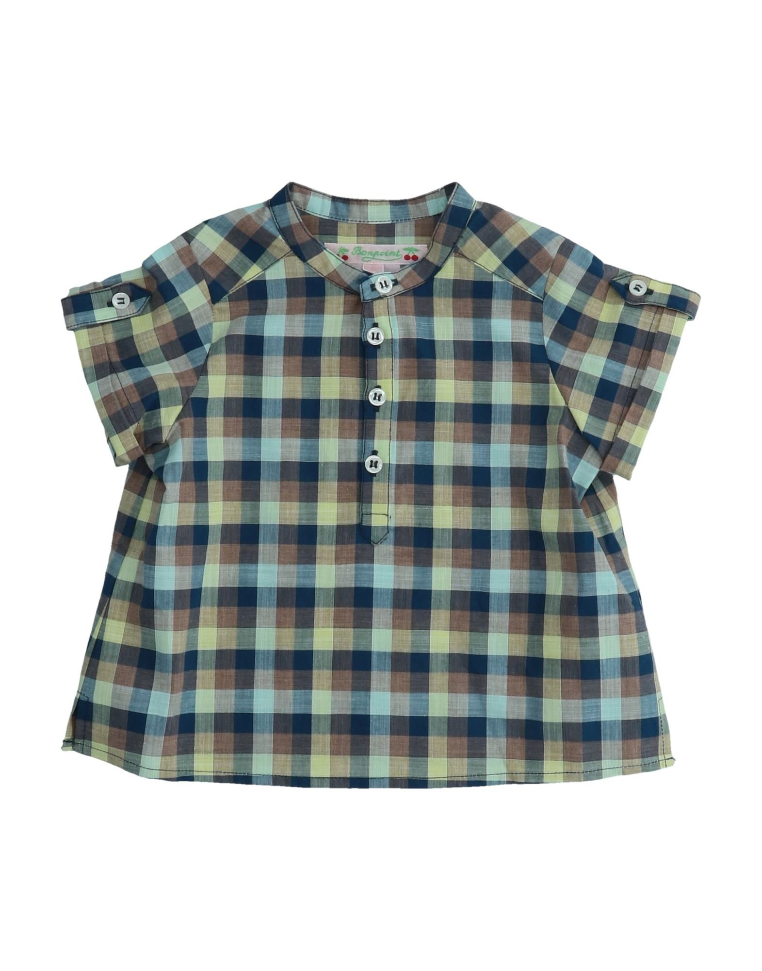 BONPOINT Блузка bonpoint джинсовая блузка с рюшами на воротнике
