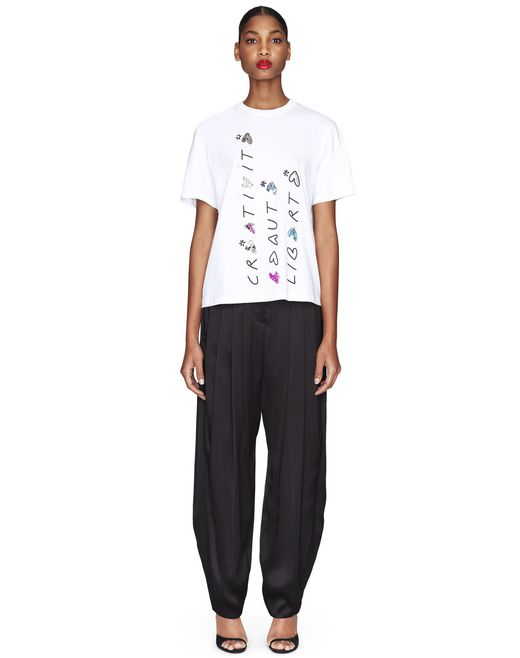 T-SHIRT BIANCA IN JERSEY - Lanvin
