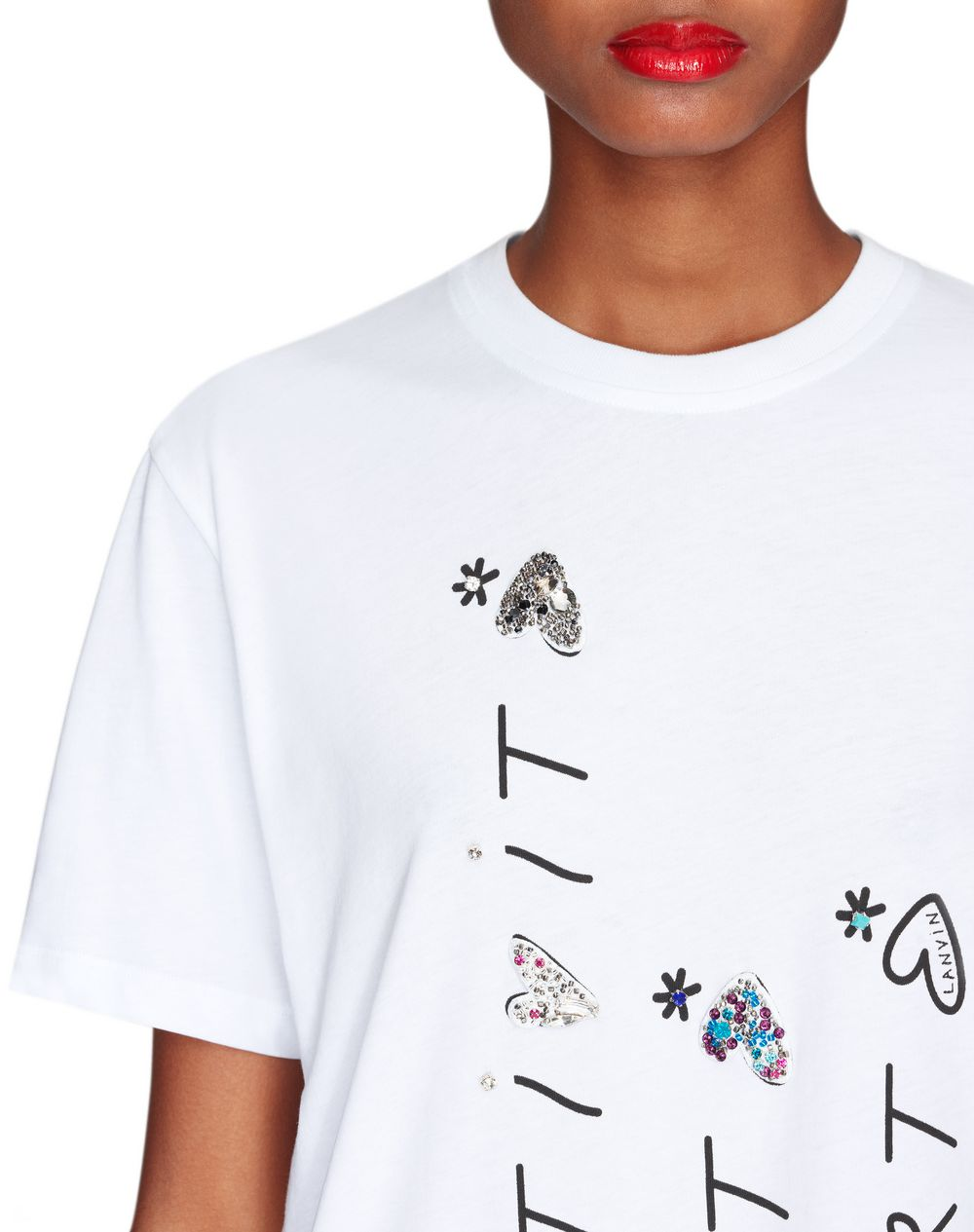 WHITE JERSEY T-SHIRT - Lanvin