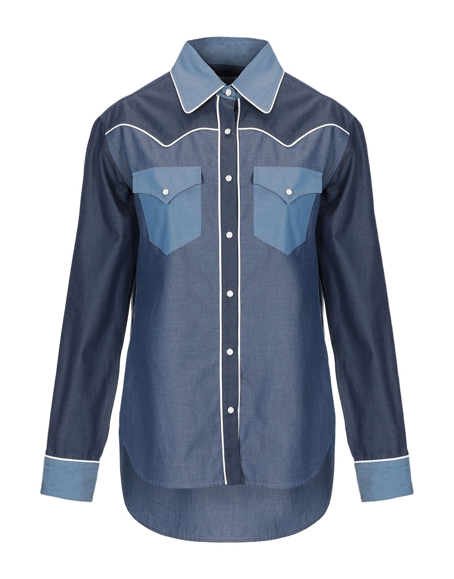 《期間限定セール中》L.A L.A TEX RANCH WEAR レディース デニムシャツ ブルー II コットン 100%