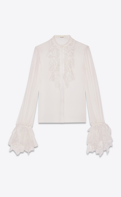 Frilly shirt in crepe muslin