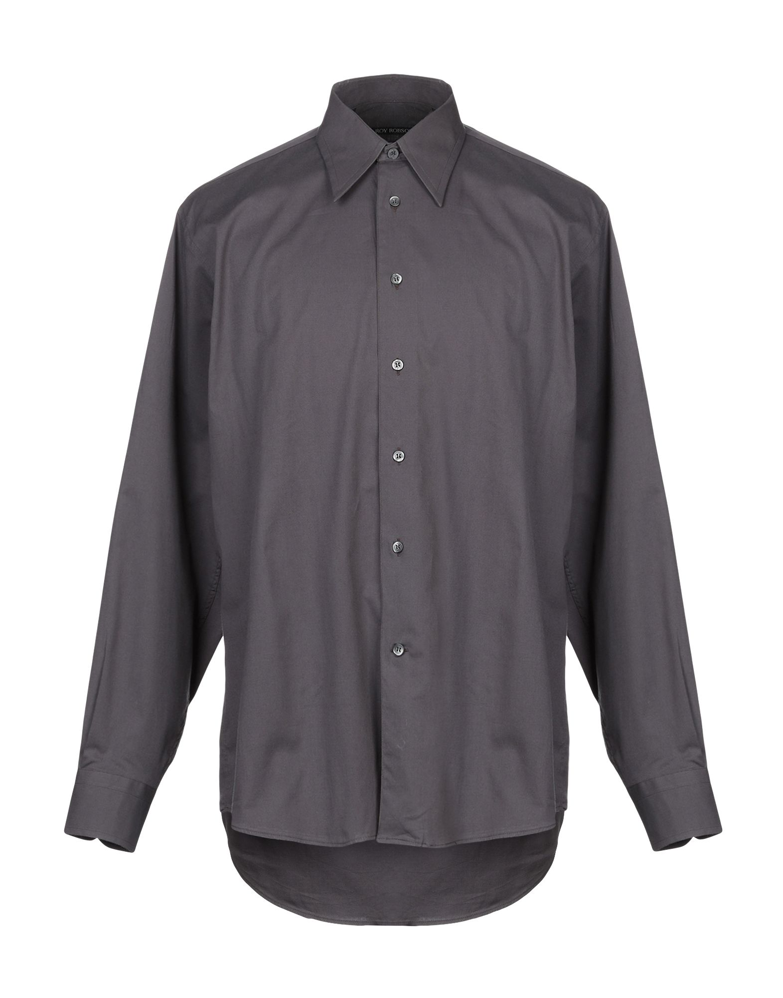《セール開催中》ROY ROBSON メンズ シャツ スチールグレー 40 コットン 97% / ポリウレタン 3%