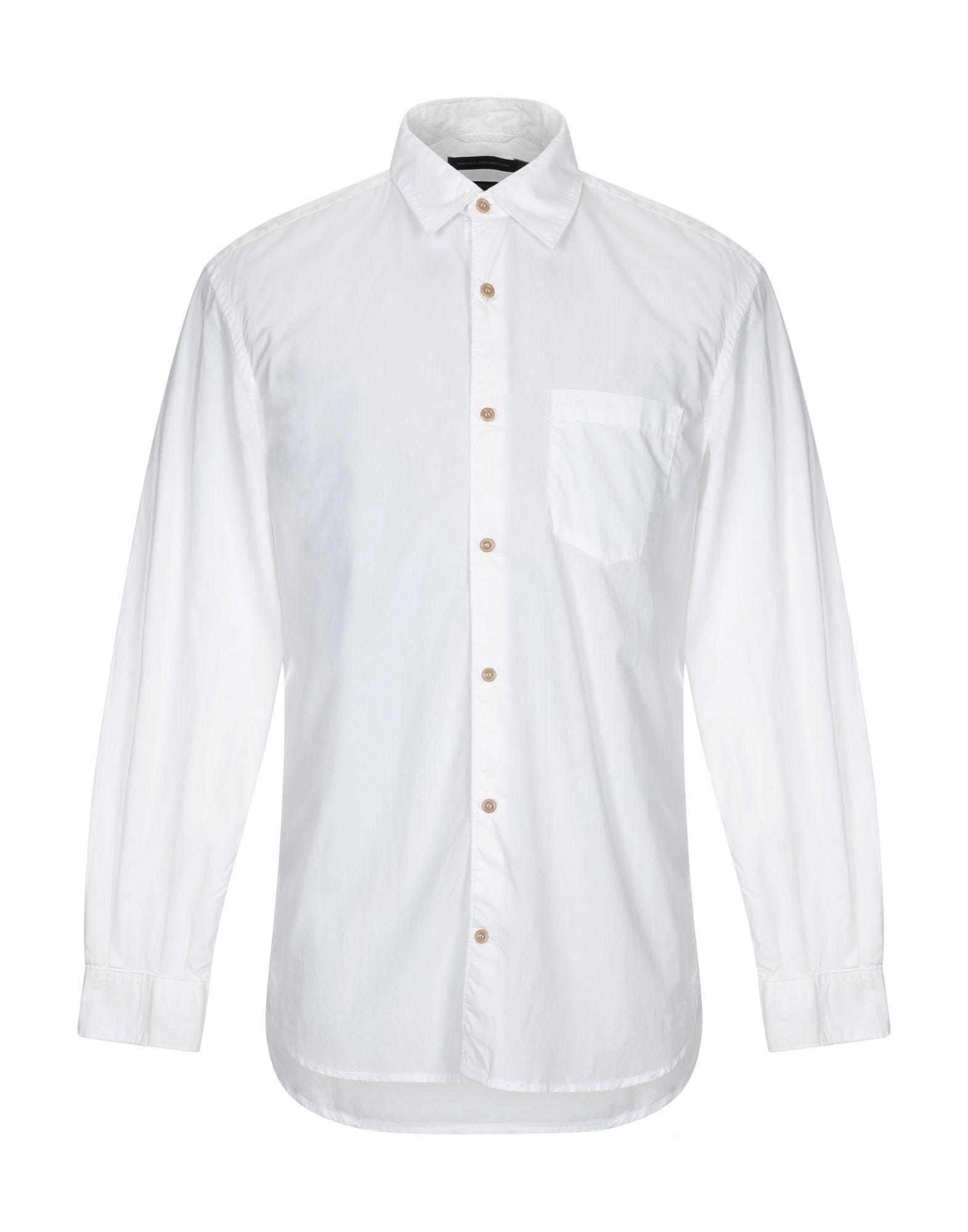 《セール開催中》FRENCH CONNECTION メンズ シャツ ホワイト M コットン 100%