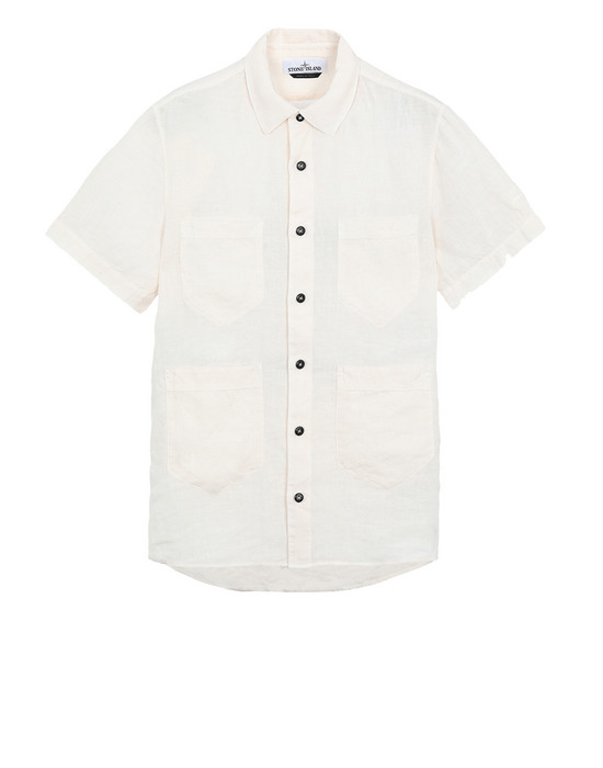 STONE ISLAND Short sleeve shirt 11501 'FISSATO' DYE TREATMENT