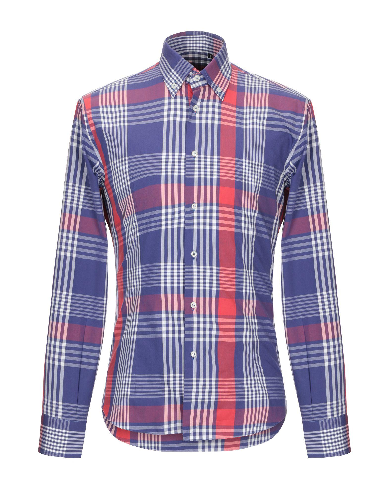 《セール開催中》PHIL GREY メンズ シャツ ブルー S コットン 100%